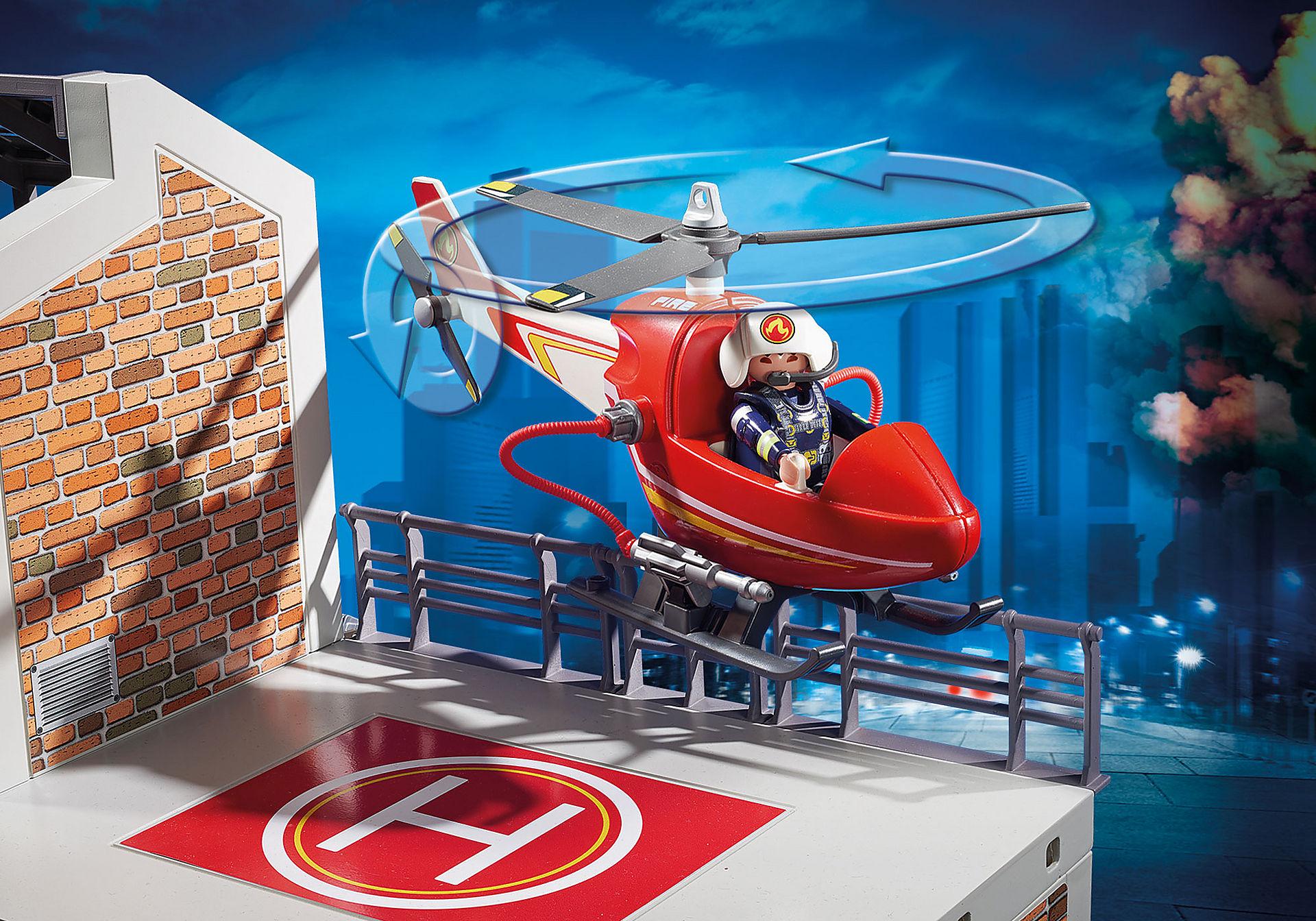 9462 Caserne de pompiers avec hélicoptère  zoom image5