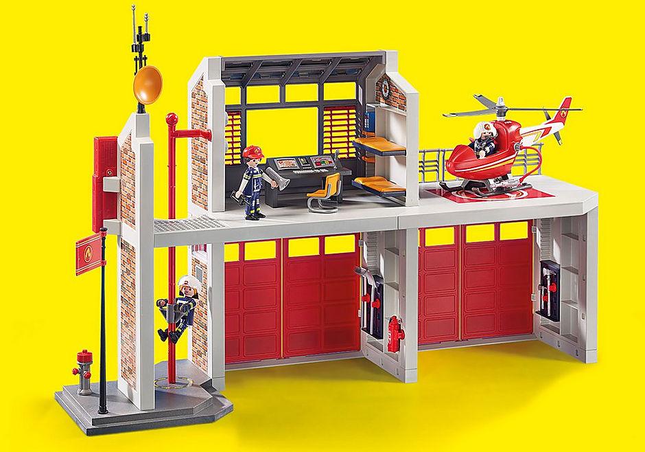 9462 Caserne de pompiers avec hélicoptère  detail image 10