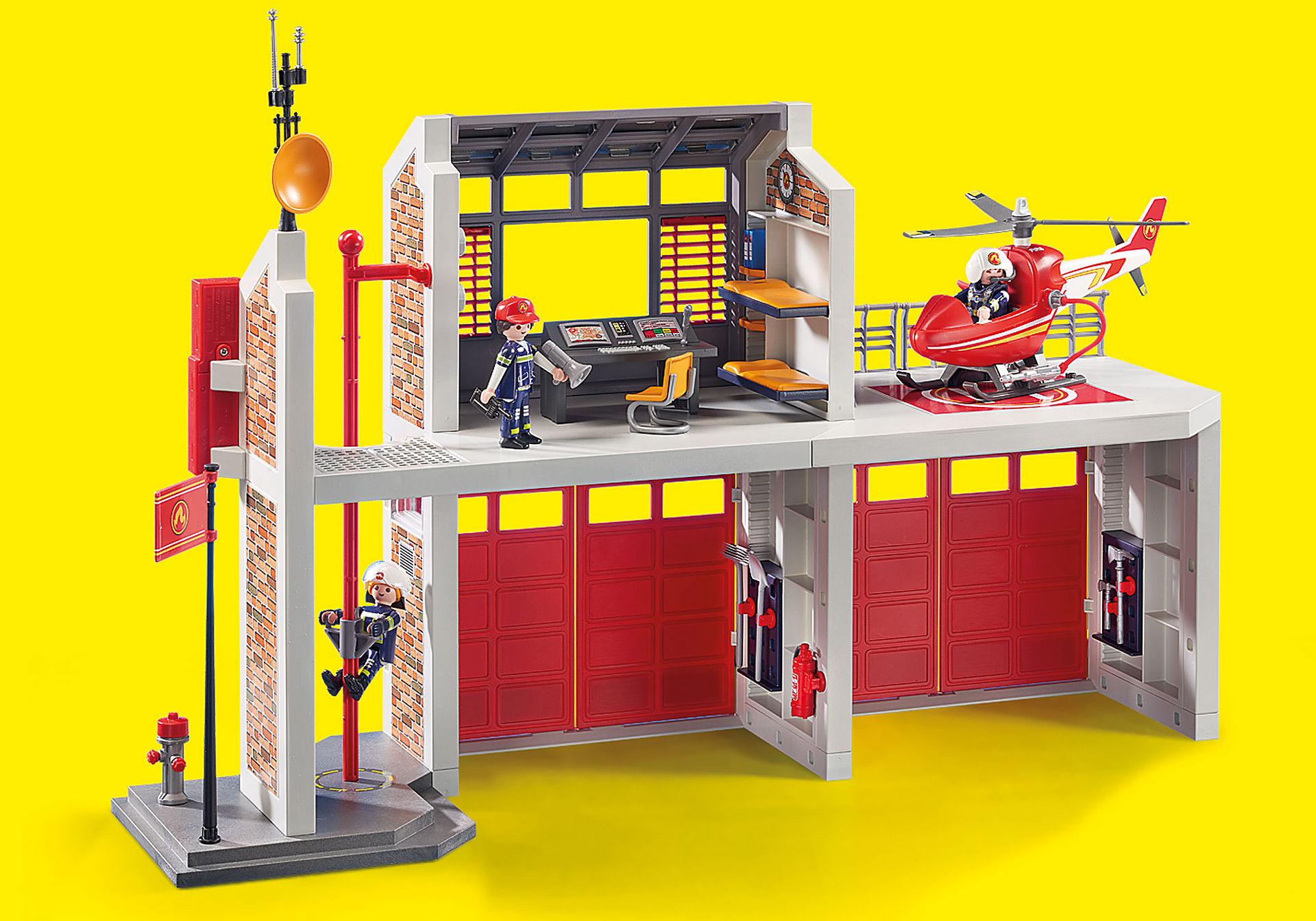 http://media.playmobil.com/i/playmobil/9462_product_extra6/Caserne de pompiers avec hélicoptère