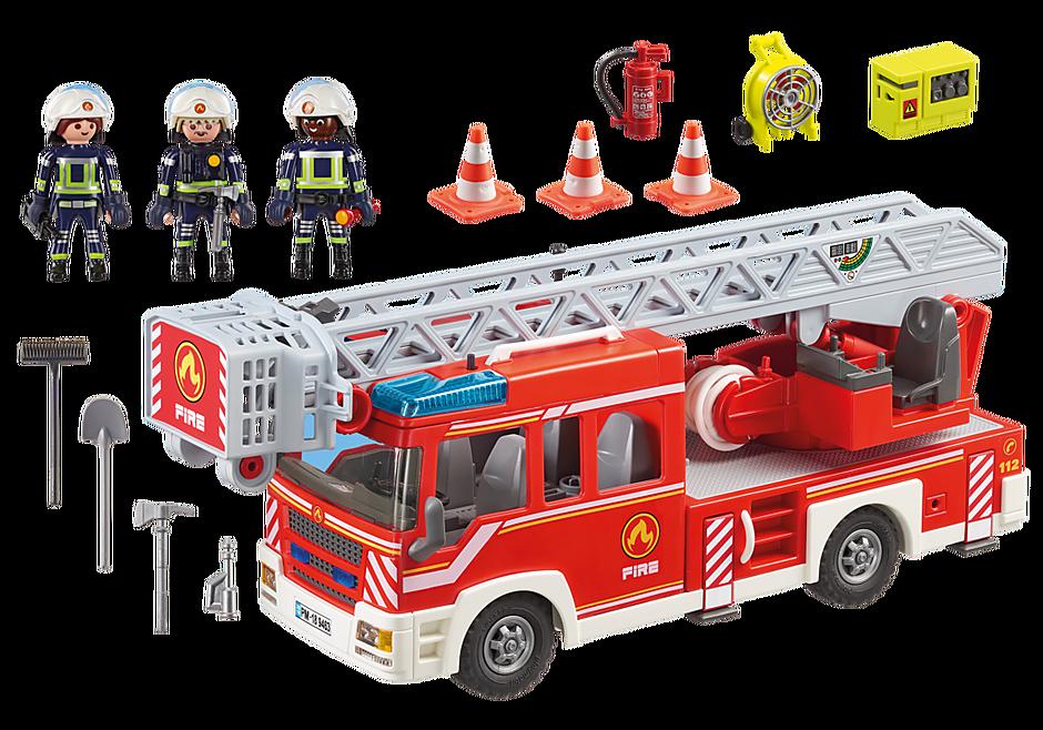 http://media.playmobil.com/i/playmobil/9463_product_box_back/Όχημα Πυροσβεστικής με σκάλα και καλάθι διάσωσης