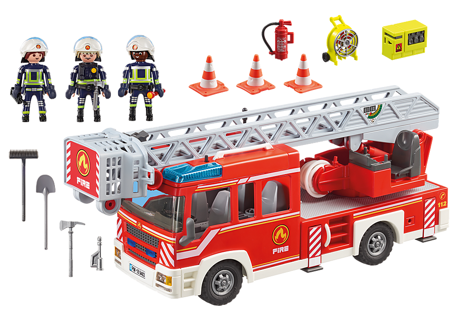 9463 Camion de pompiers avec échelle pivotante  detail image 4