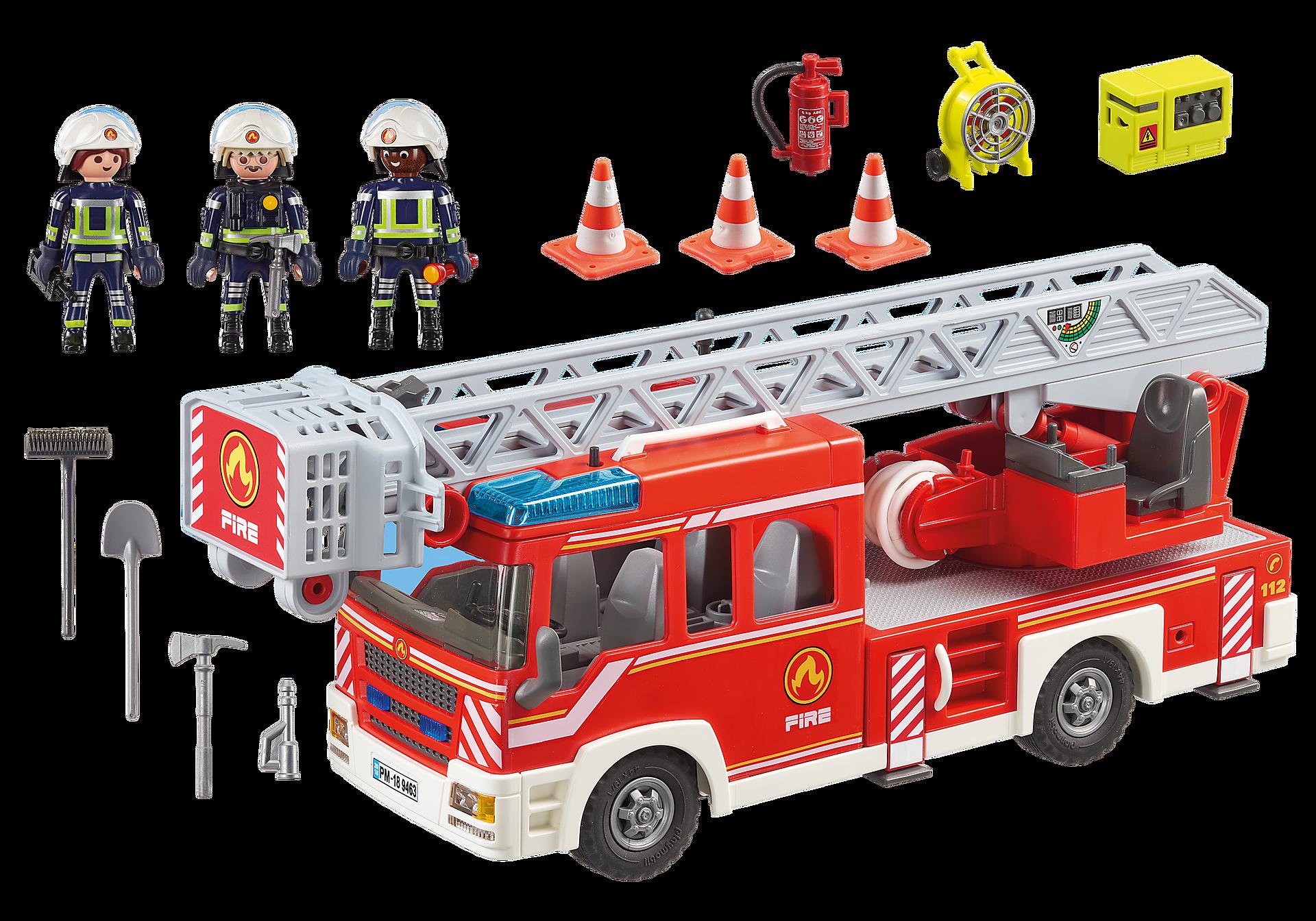 9463 Camion de pompiers avec échelle pivotante  zoom image4