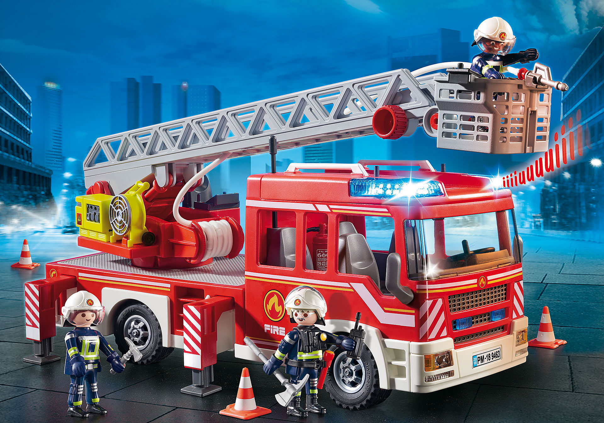 9463 Camion de pompiers avec échelle pivotante  zoom image1