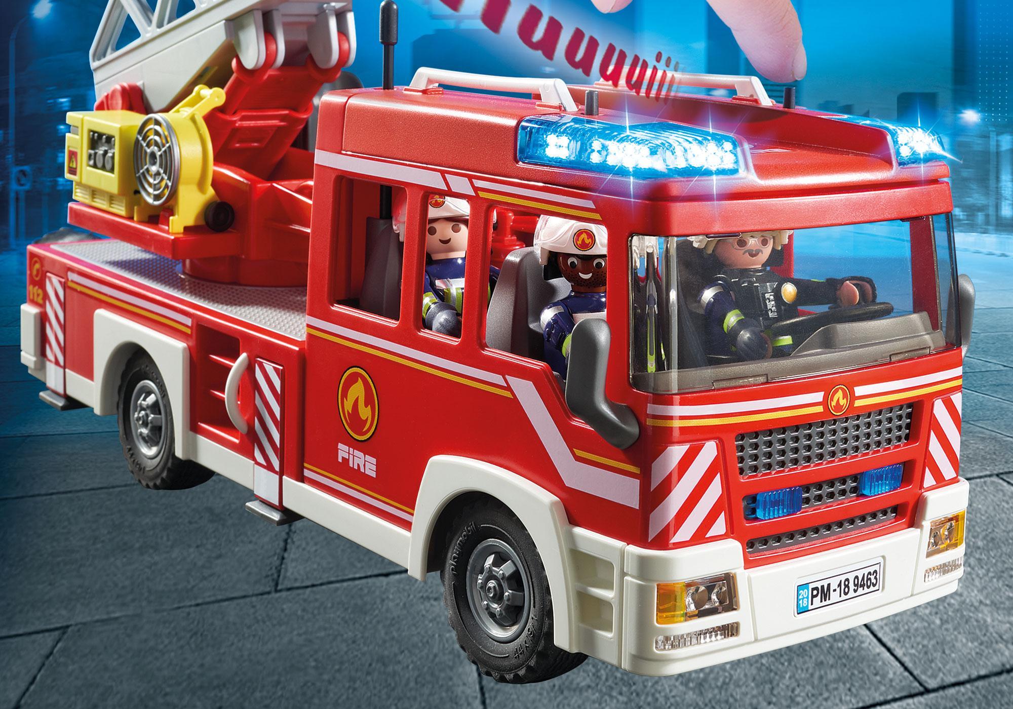 http://media.playmobil.com/i/playmobil/9463_product_extra1/Όχημα Πυροσβεστικής με σκάλα και καλάθι διάσωσης