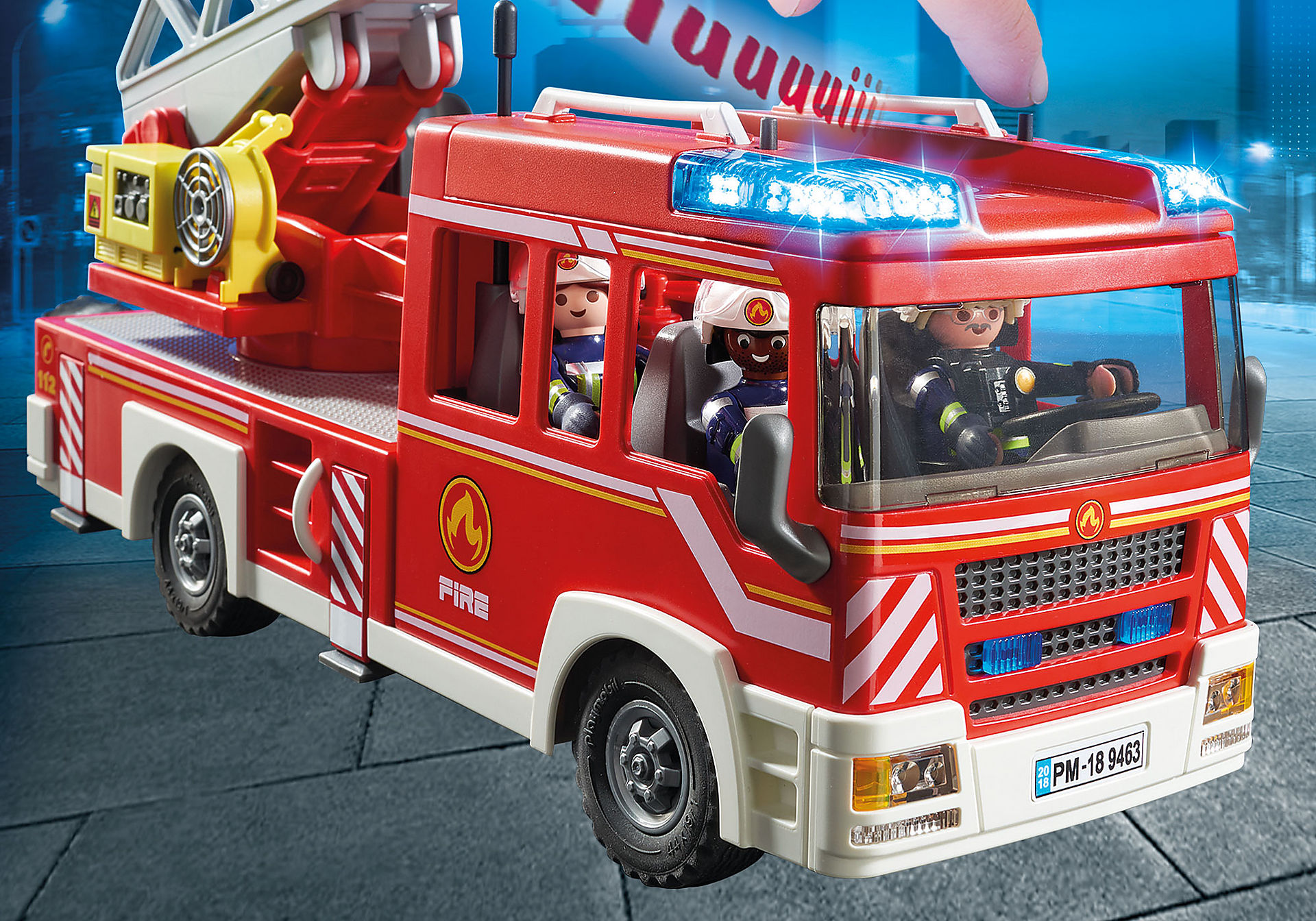 9463 Camion de pompiers avec échelle pivotante  zoom image5