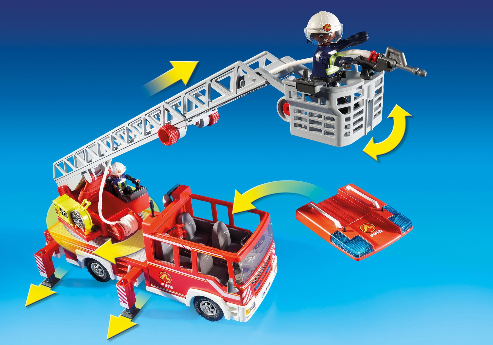 http://media.playmobil.com/i/playmobil/9463_product_extra3/Samochód strażacki z drabiną