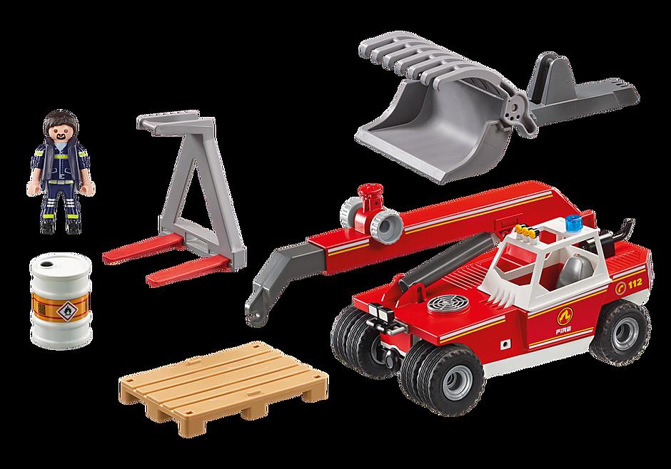 9465 Pompier avec véhicule et bras téléscopique  detail image 4