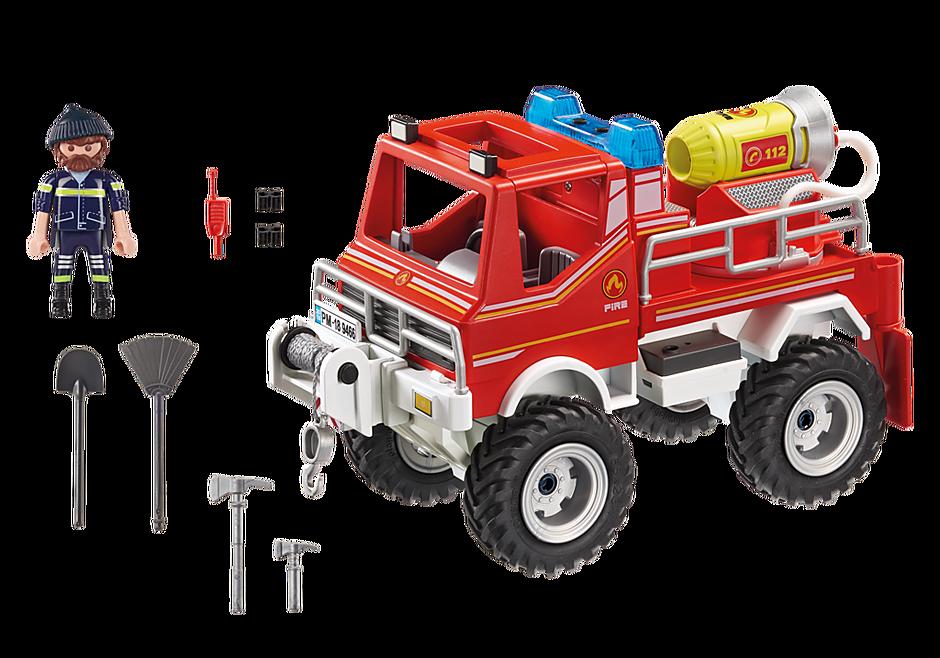 9466 Brandweer terreinwagen met waterkanon detail image 4