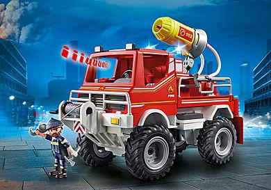 9466 Brandweer terreinwagen met waterkanon