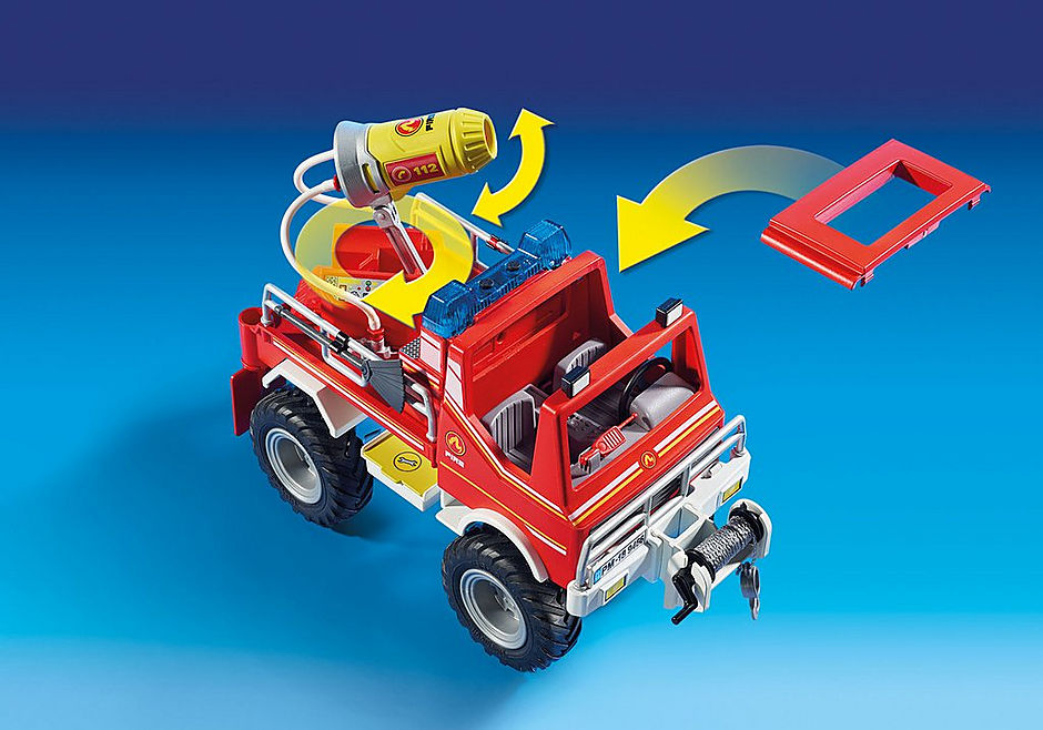 9466 Brandweer terreinwagen met waterkanon detail image 7