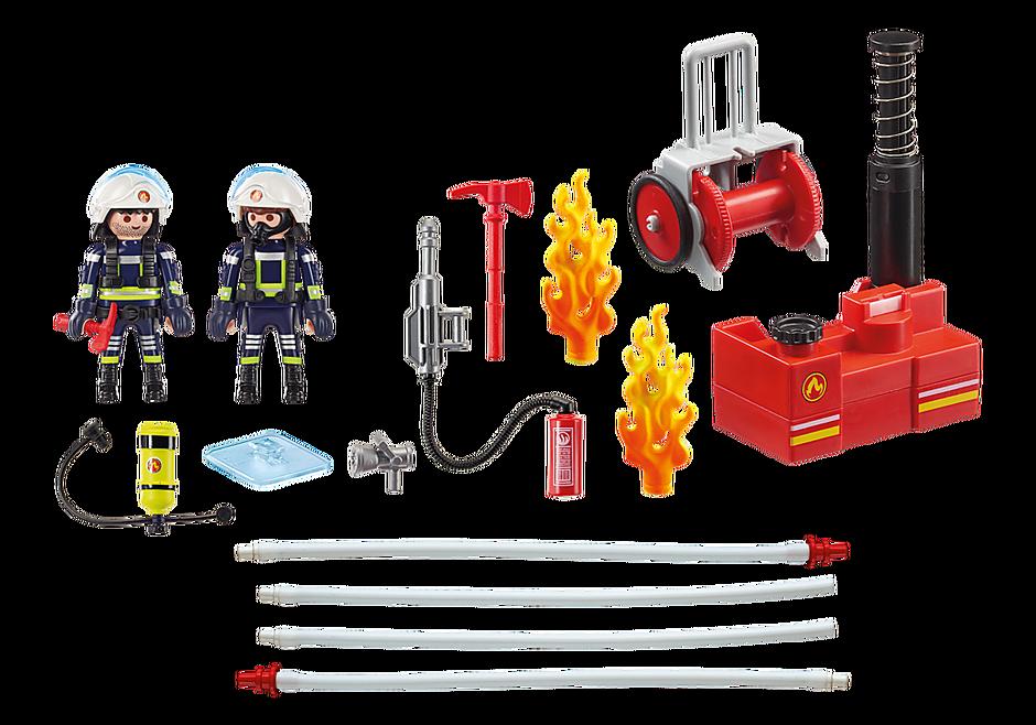 9468 Brandmænd med vandpumpe detail image 4