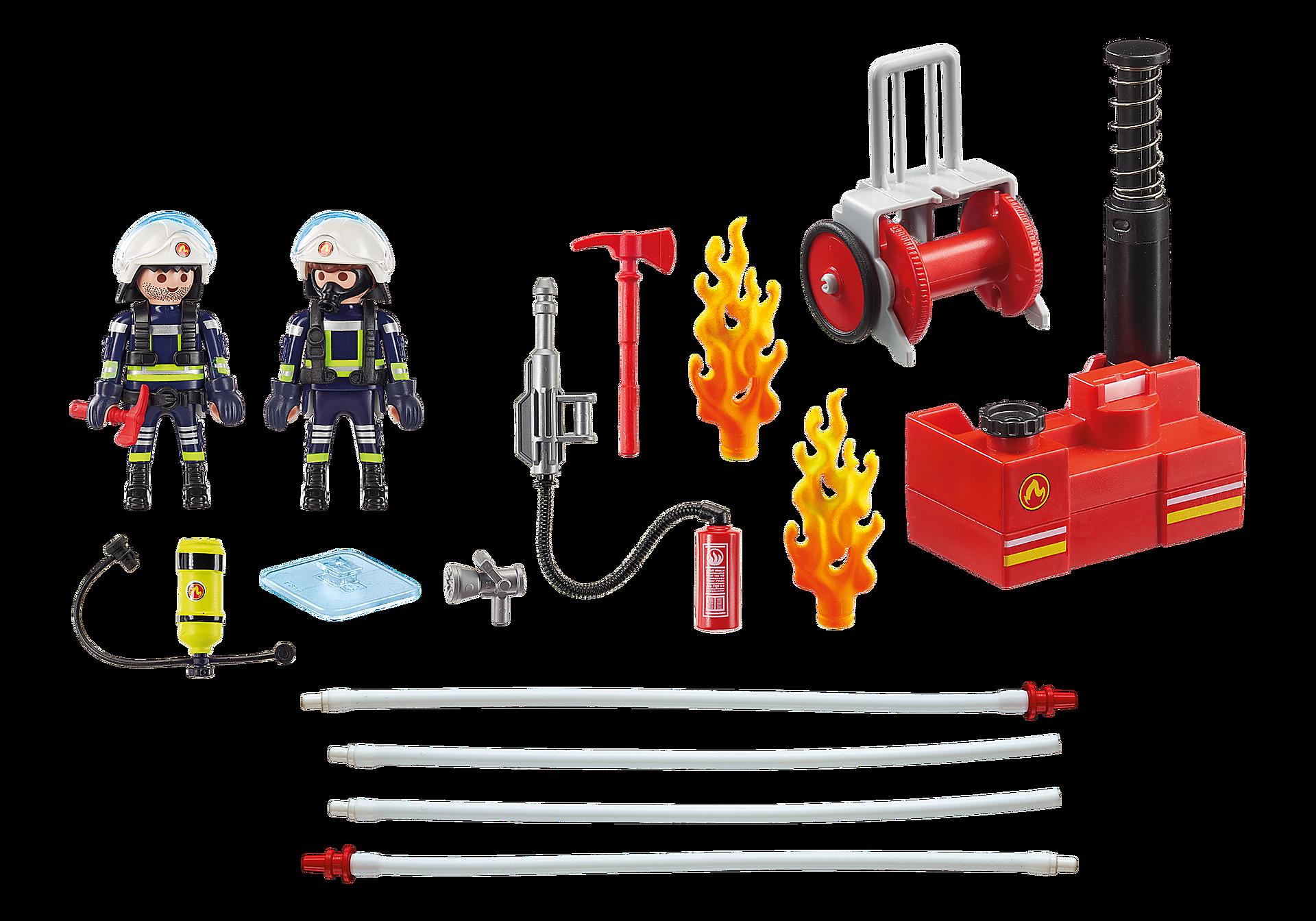 9468 Pompiers avec matériel d'incendie  zoom image4