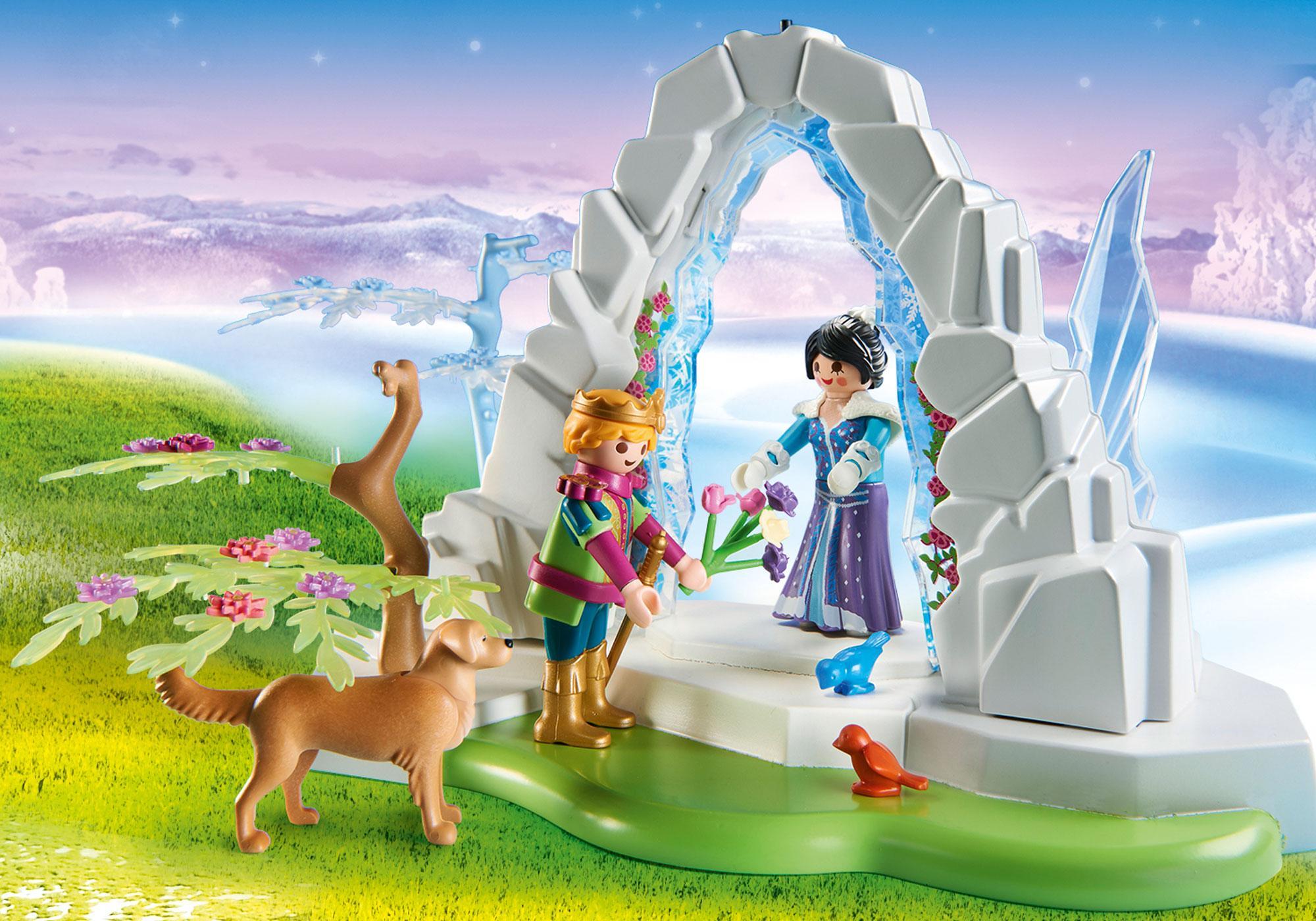 http://media.playmobil.com/i/playmobil/9471_product_extra1/Portão de Cristal do Mundo de Inverno