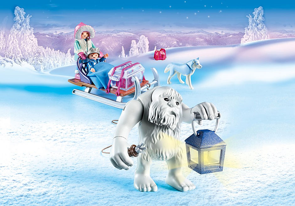 9473 Yeti with Sleigh detail image 1