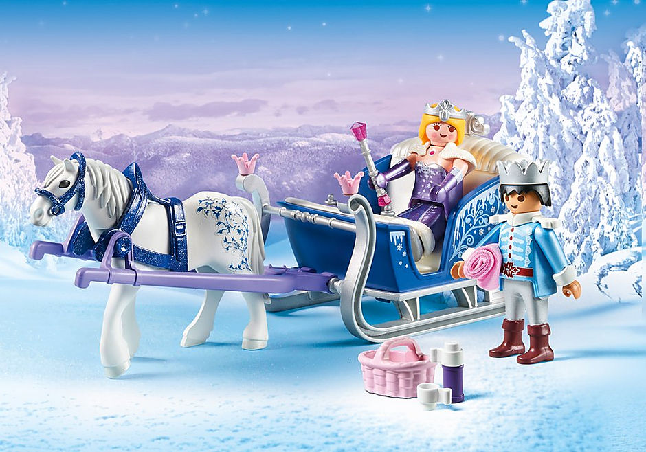 9474 Sleigh with Royal Couple detail image 1