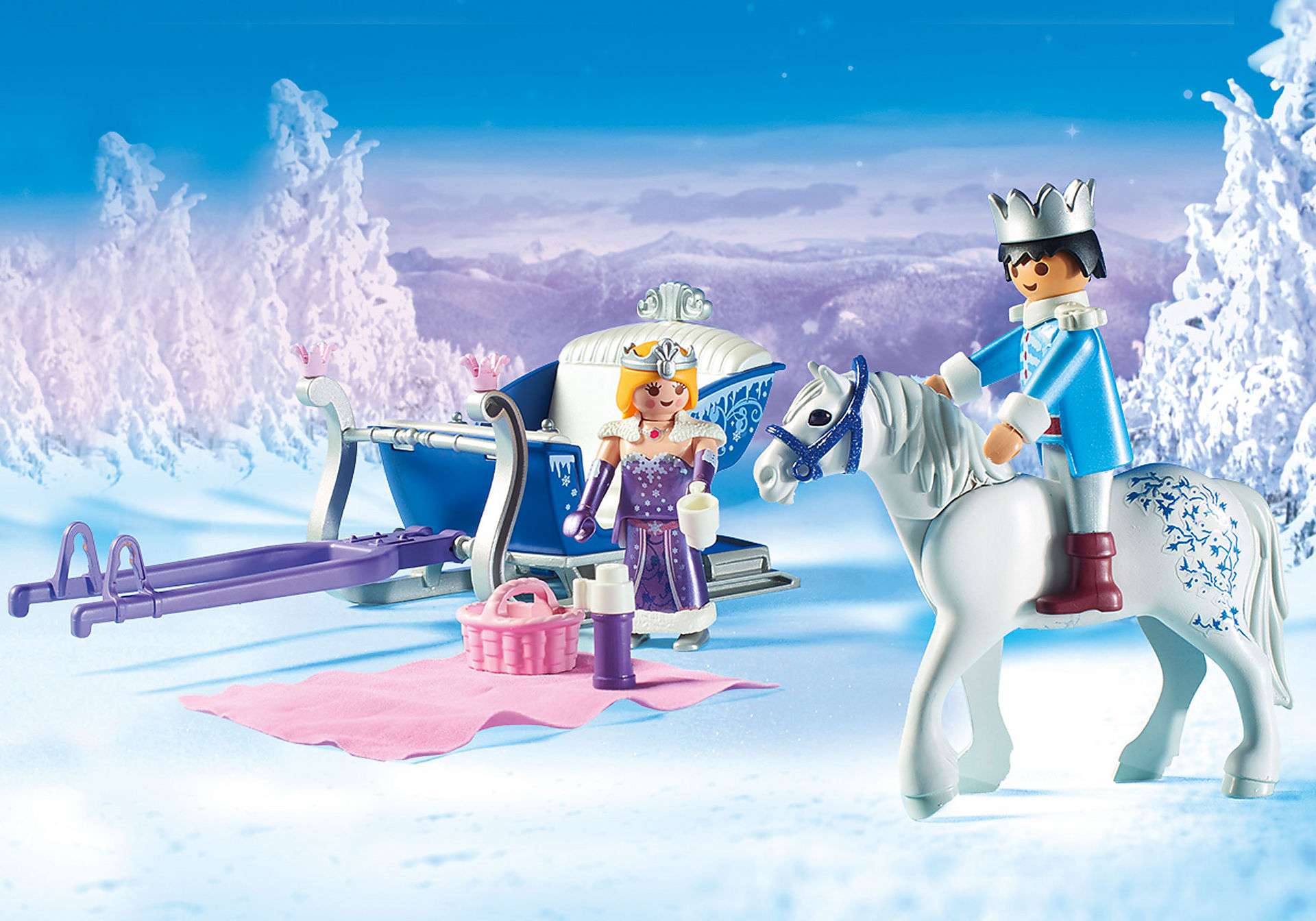 9474 Sleigh with Royal Couple zoom image4