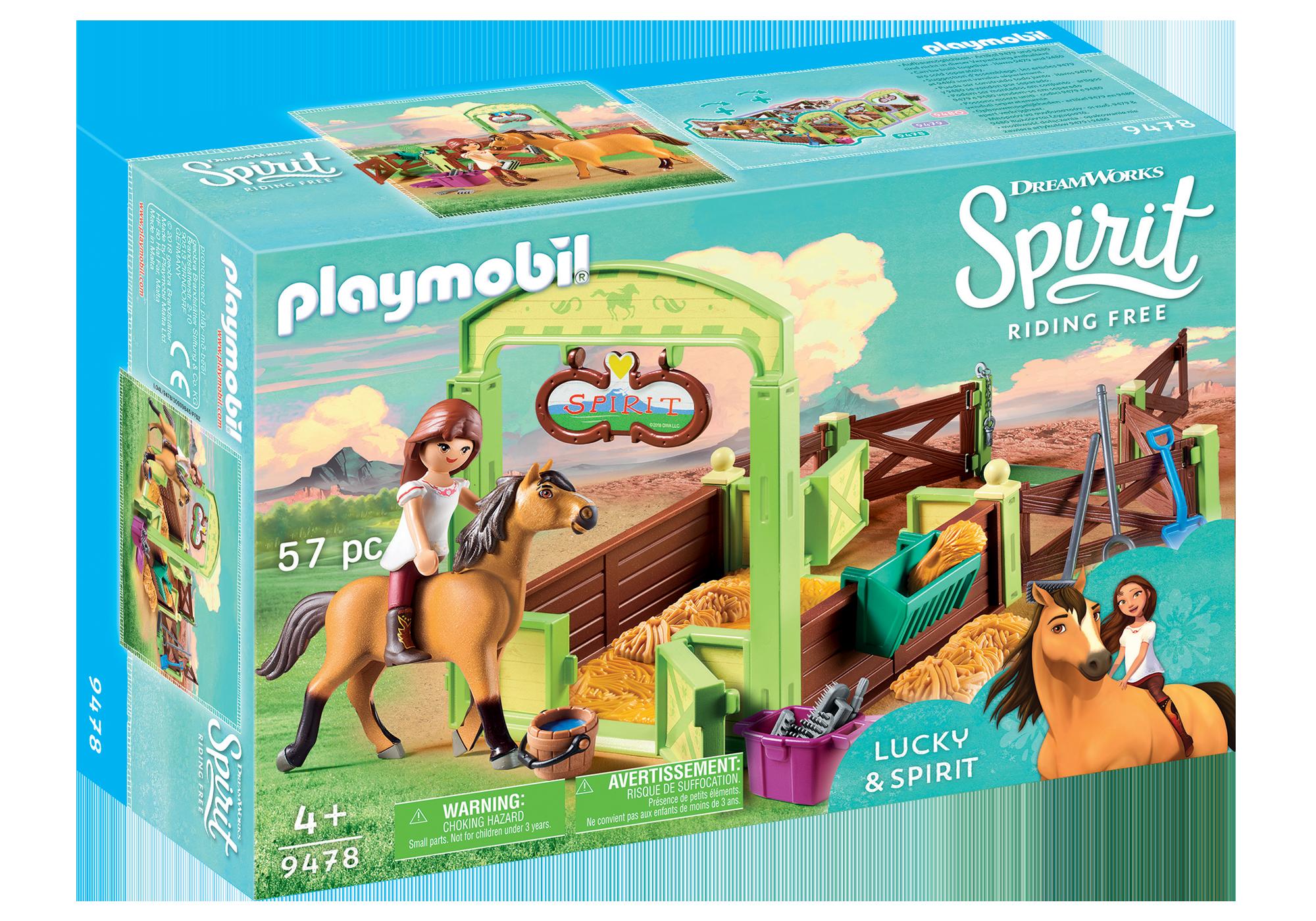 """http://media.playmobil.com/i/playmobil/9478_product_box_front/Hesteboks """"Lucky & Spirit"""""""