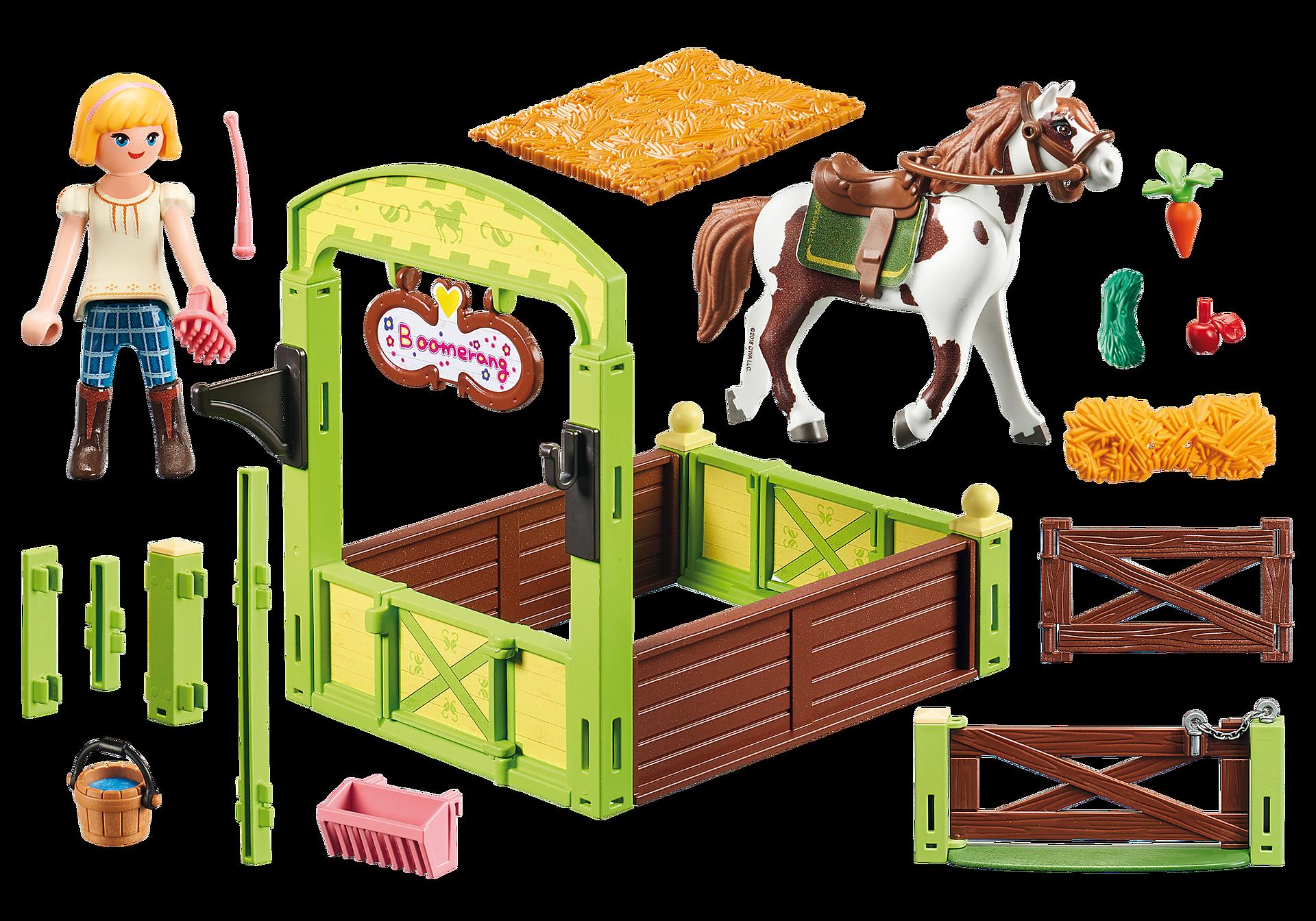http://media.playmobil.com/i/playmobil/9480_product_box_back/Η Άμπιγκεϊλ με το άλογο Μπούμερανγκ