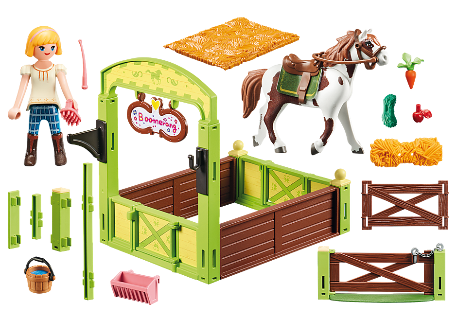 9480 Abigail & Boomerang met paardenbox detail image 3