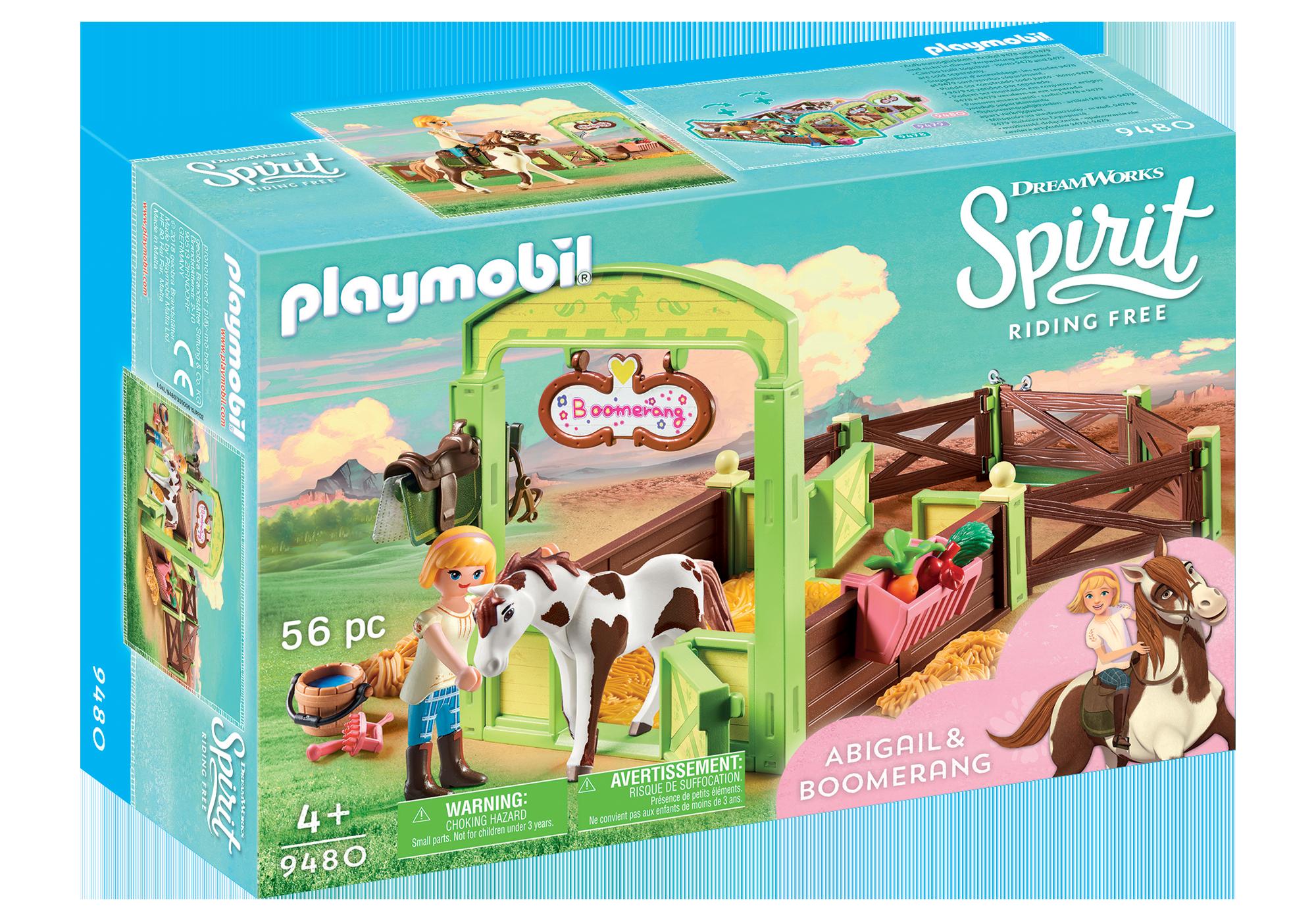 """http://media.playmobil.com/i/playmobil/9480_product_box_front/Hästbox """"Abigail och Boomerang"""""""