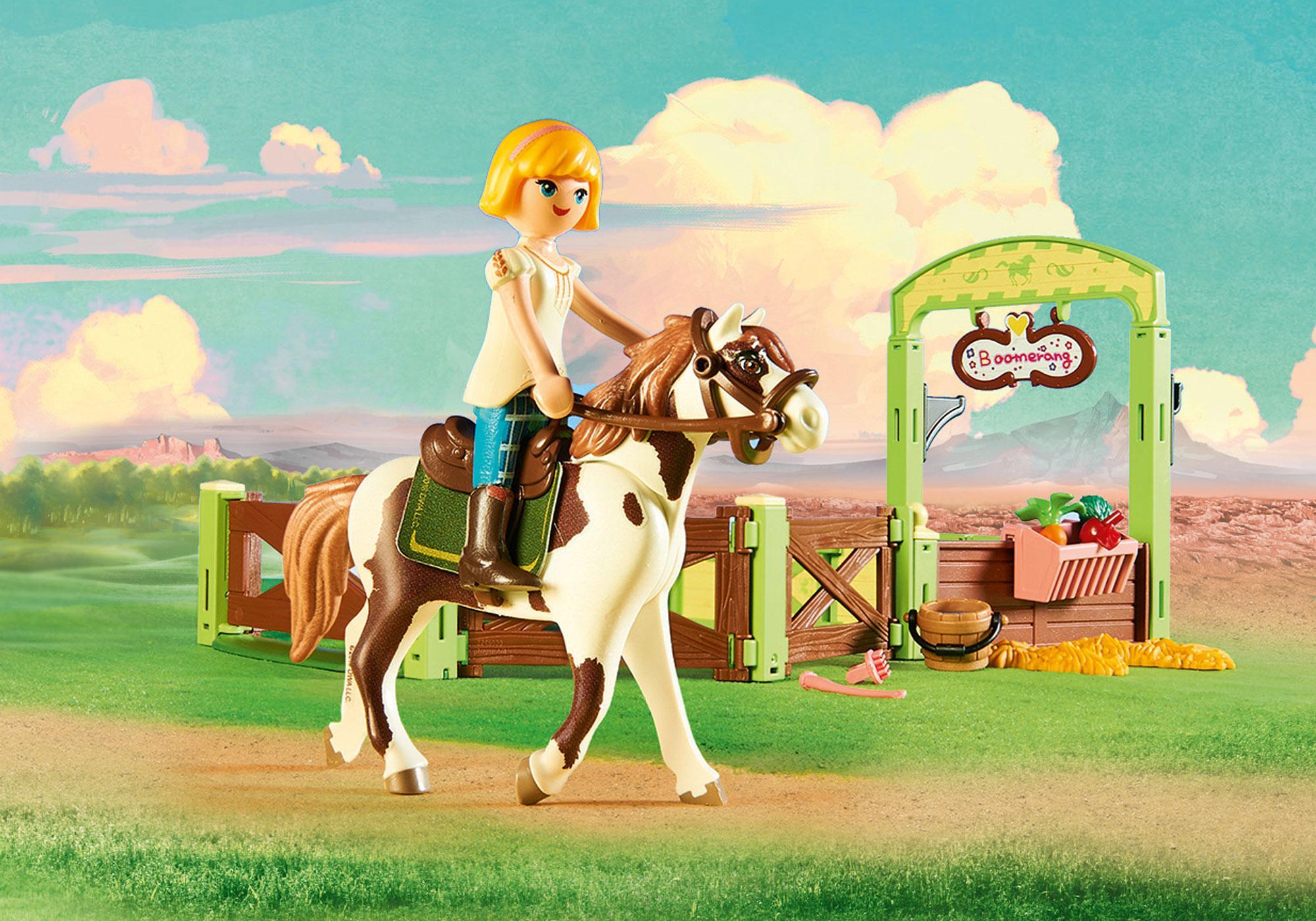 """http://media.playmobil.com/i/playmobil/9480_product_extra1/Hästbox """"Abigail och Boomerang"""""""