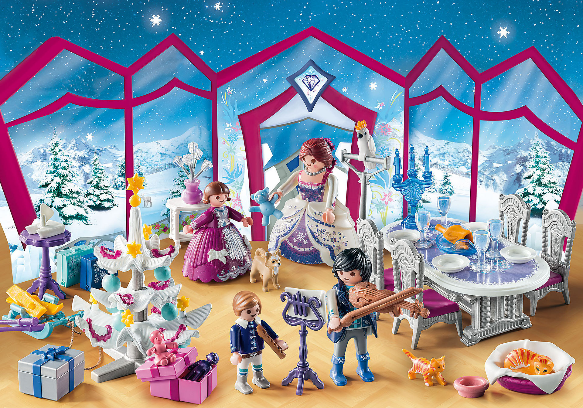9485 Adventskalender 'Kerstfeest in het kristallen salon'  zoom image3