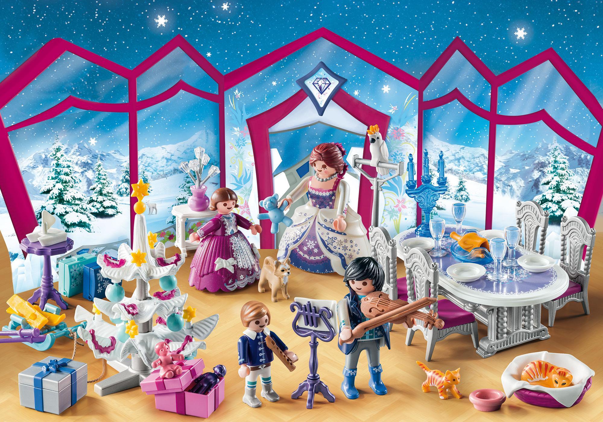 """http://media.playmobil.com/i/playmobil/9485_product_extra1/Calendario de Adviento """"Baile de Navidad en el Salón de Cristal"""""""