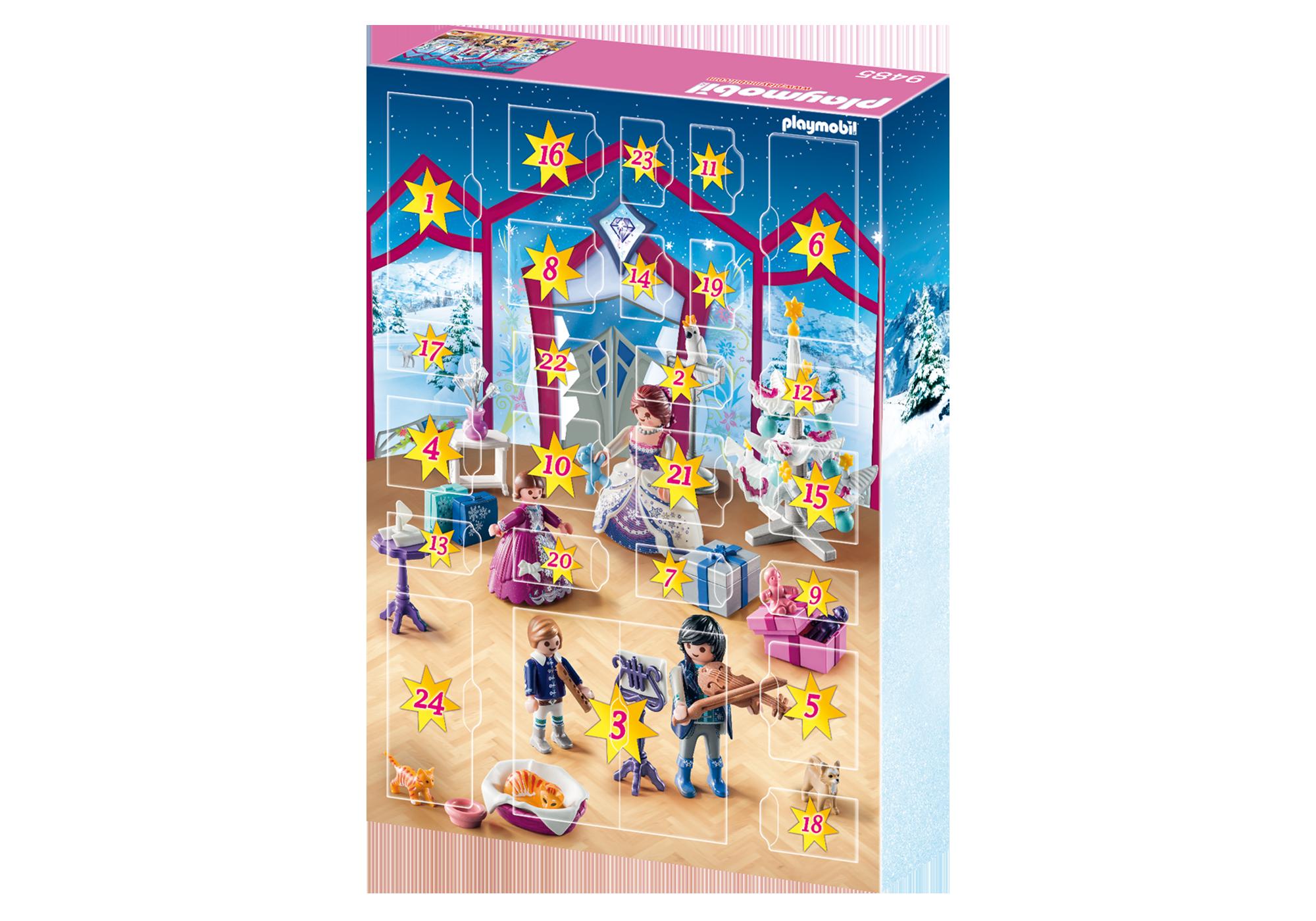 """http://media.playmobil.com/i/playmobil/9485_product_extra2/Kalendarz adwentowy """"Świąteczny bal w kryształowej sali"""""""