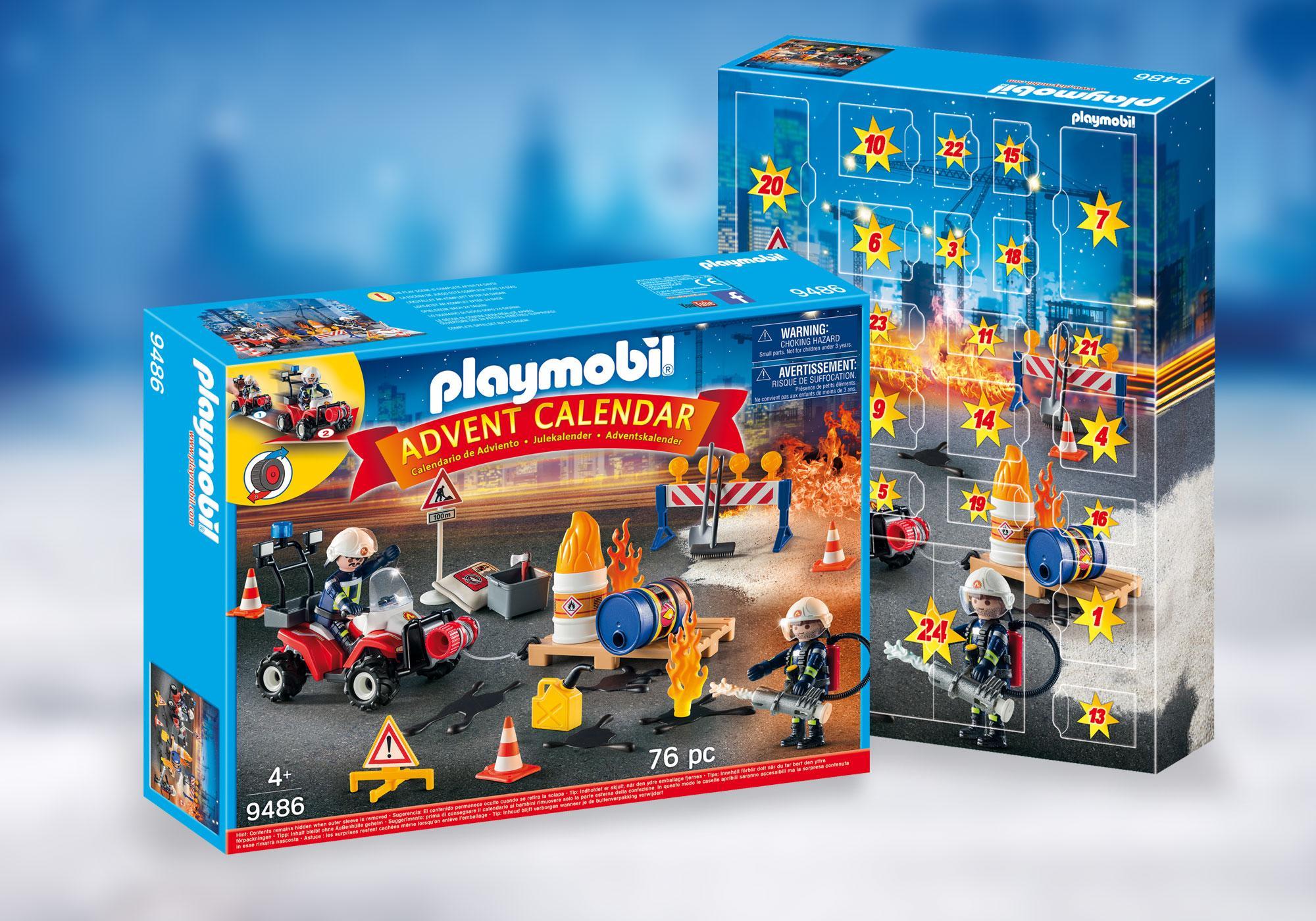 """http://media.playmobil.com/i/playmobil/9486_product_detail/Kalendarz adwentowy """"Akcja straży pożarnej na placu budowy"""""""