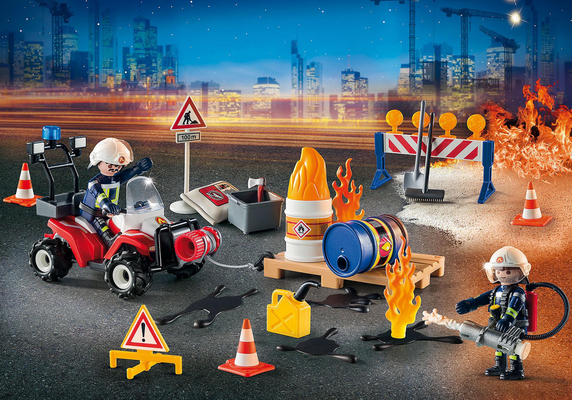 """9486 Adventskalender """"Brandräddningsaktion på byggarbetsplatsen""""  zoom image3"""