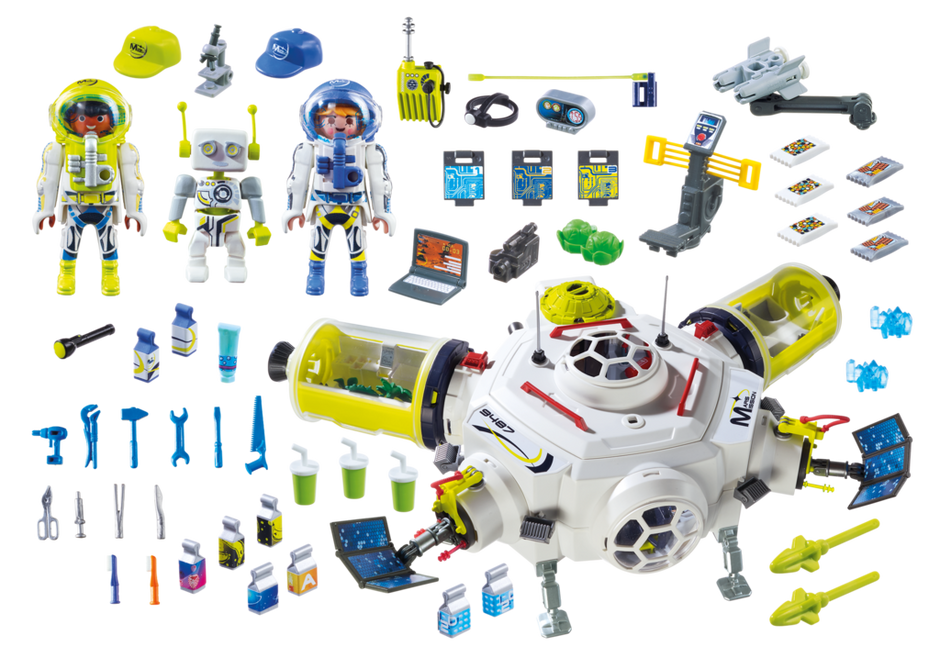 Playmobil 9487 Space Mars Space Station With Functioning Double Laser Shooter