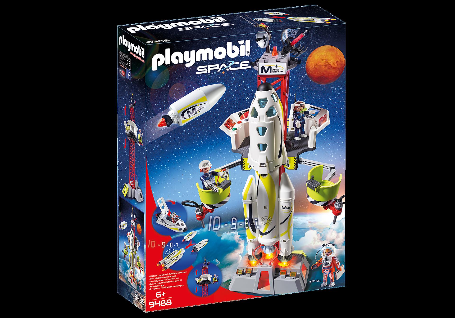 9488 Cohete con Plataforma de Lanzamiento zoom image2