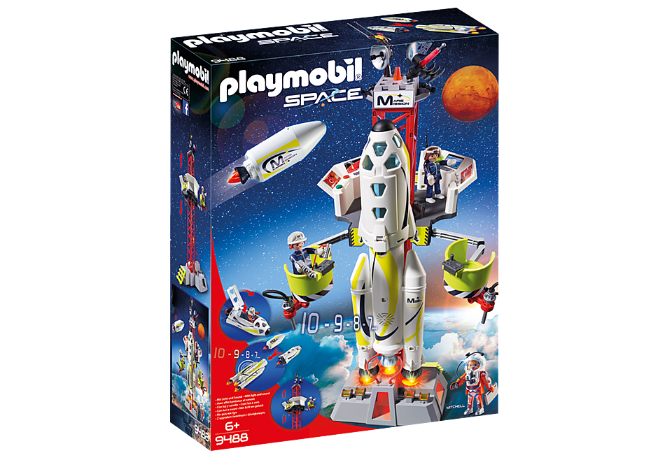 Racheta Spatiala Cu Lansator 9488 Playmobil