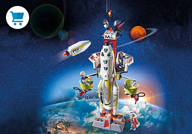 9488_product_detail/Fusée Mars avec plateforme de lancement
