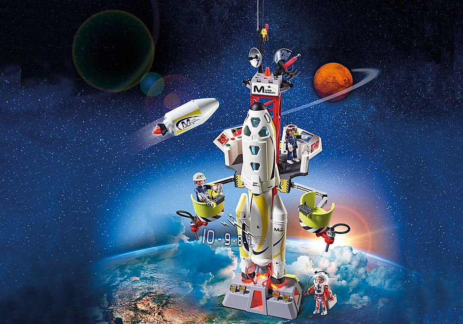 9488 Fusée Mars avec plateforme de lancement  detail image 1