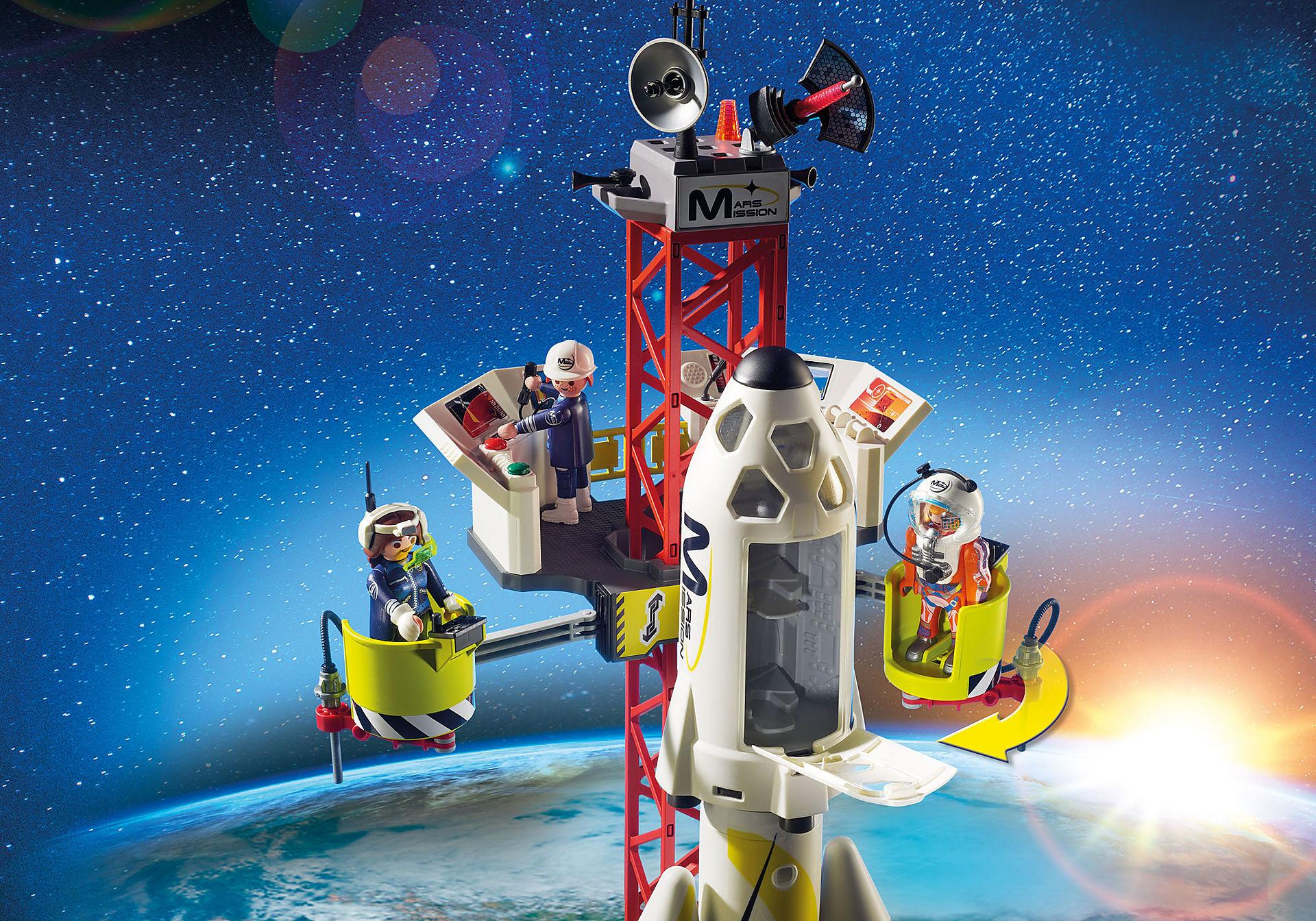 http://media.playmobil.com/i/playmobil/9488_product_extra1/Πύραυλος διαστημικής αποστολής με σταθμό εκτόξευσης