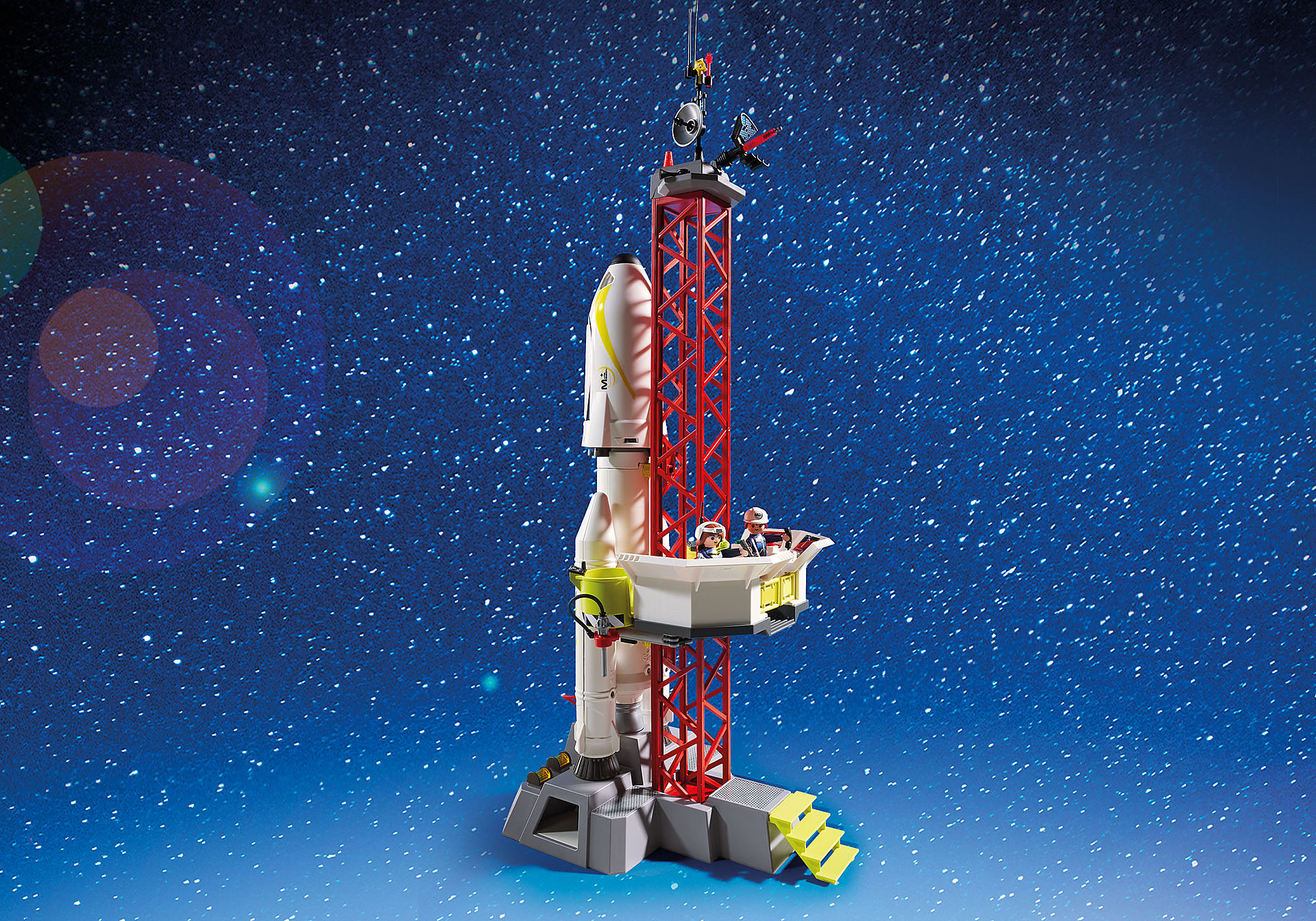 http://media.playmobil.com/i/playmobil/9488_product_extra5/Πύραυλος διαστημικής αποστολής με σταθμό εκτόξευσης