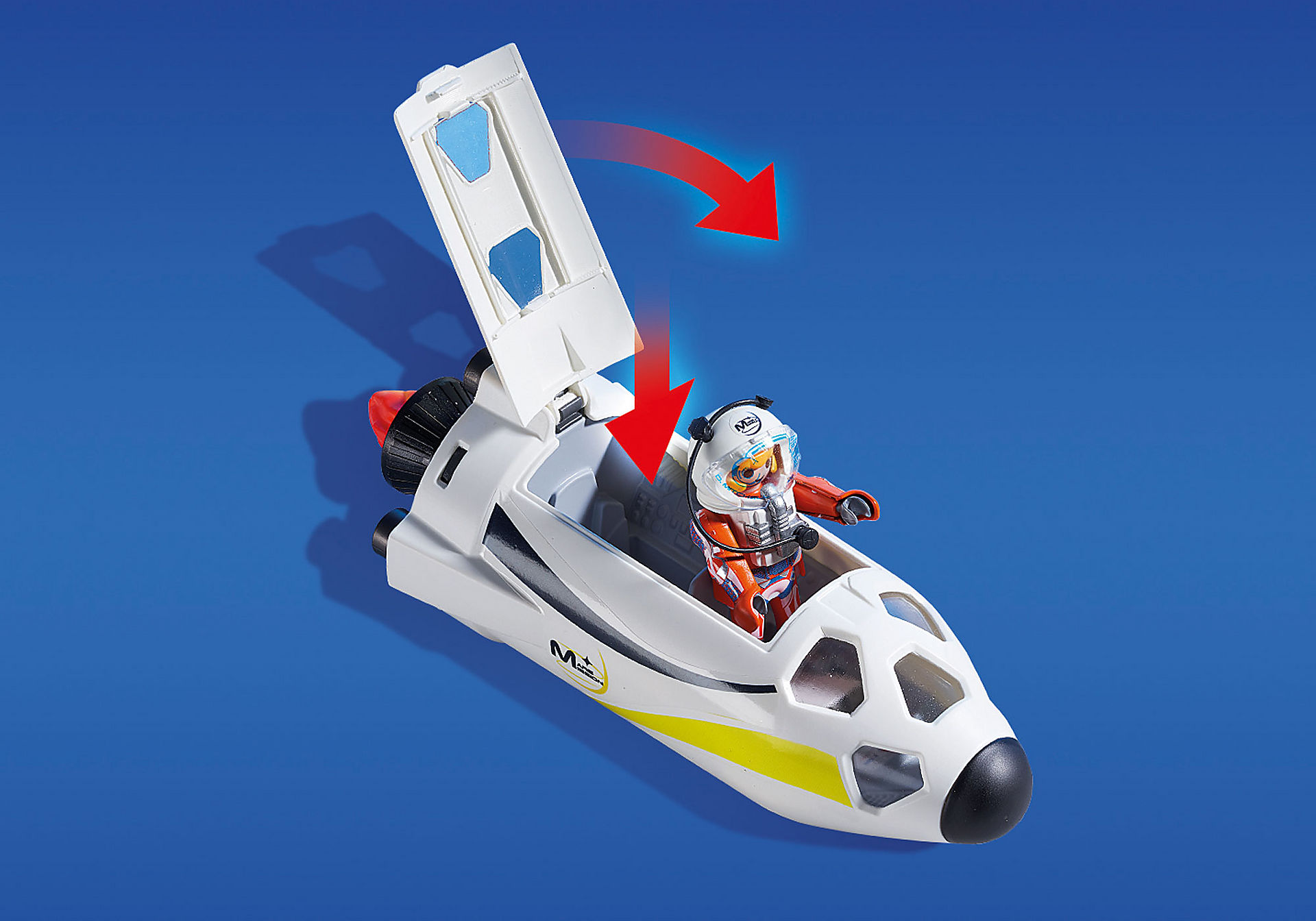 http://media.playmobil.com/i/playmobil/9488_product_extra6/Πύραυλος διαστημικής αποστολής με σταθμό εκτόξευσης