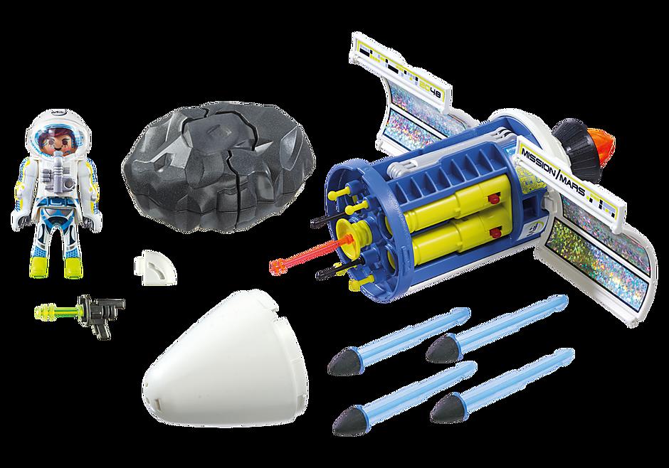 9490 Spationaute avec satellite et météorite detail image 3