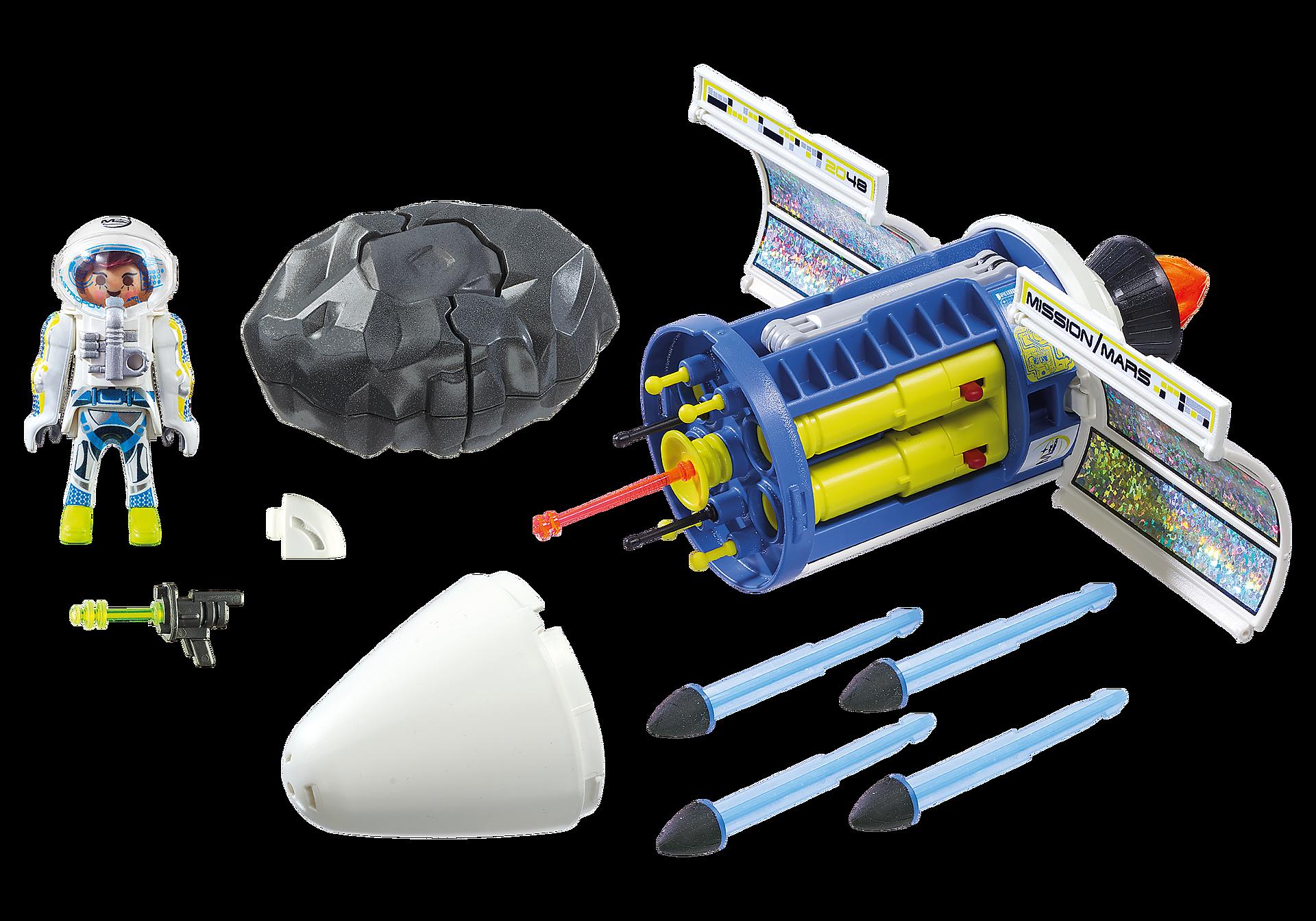 9490 Spationaute avec satellite et météorite zoom image3