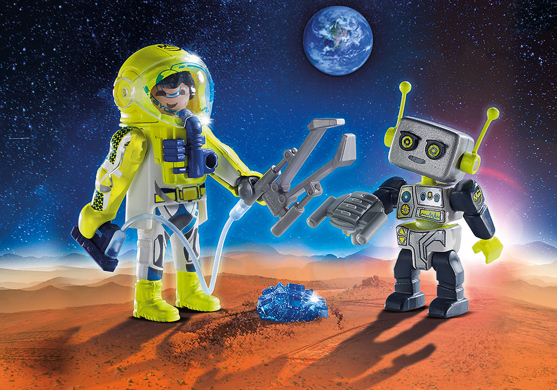 http://media.playmobil.com/i/playmobil/9492_product_detail/Duo Pack Αστροναύτης και ρομπότ