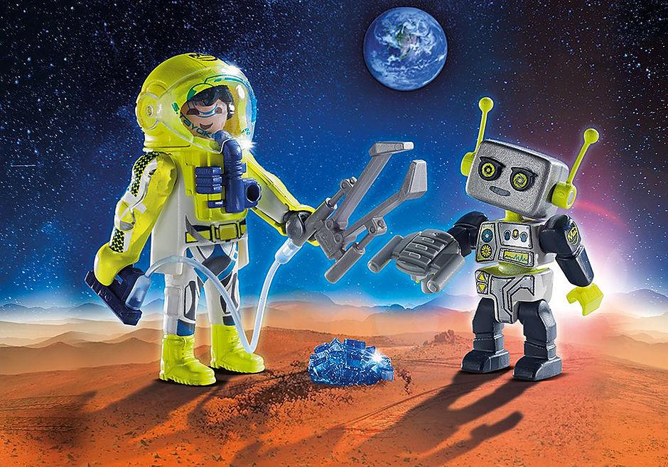 9492 PLAYMOBIL Duo Spationaute et robot  detail image 1