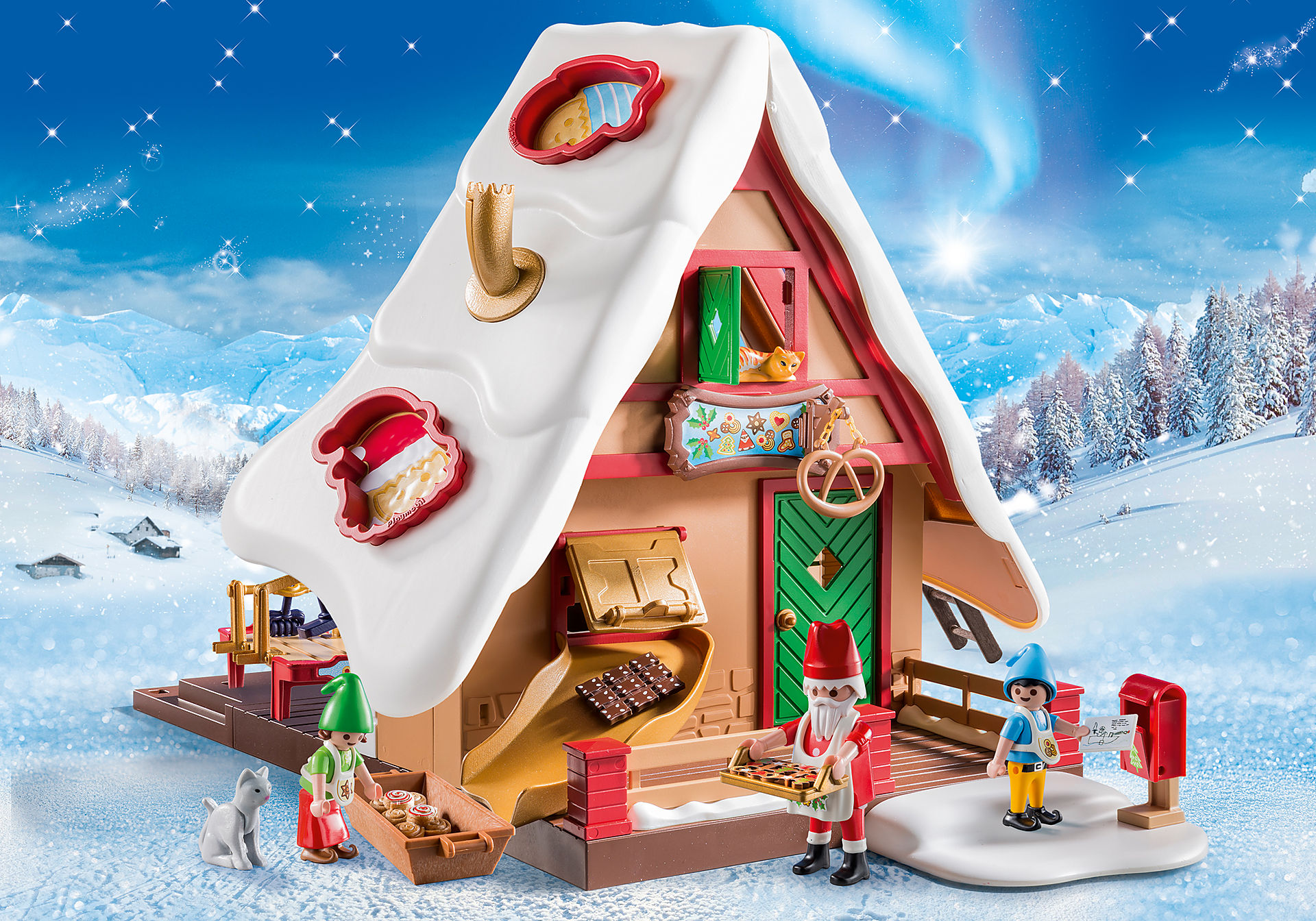 9493 Forno di Babbo Natale con stampi per biscotti zoom image1