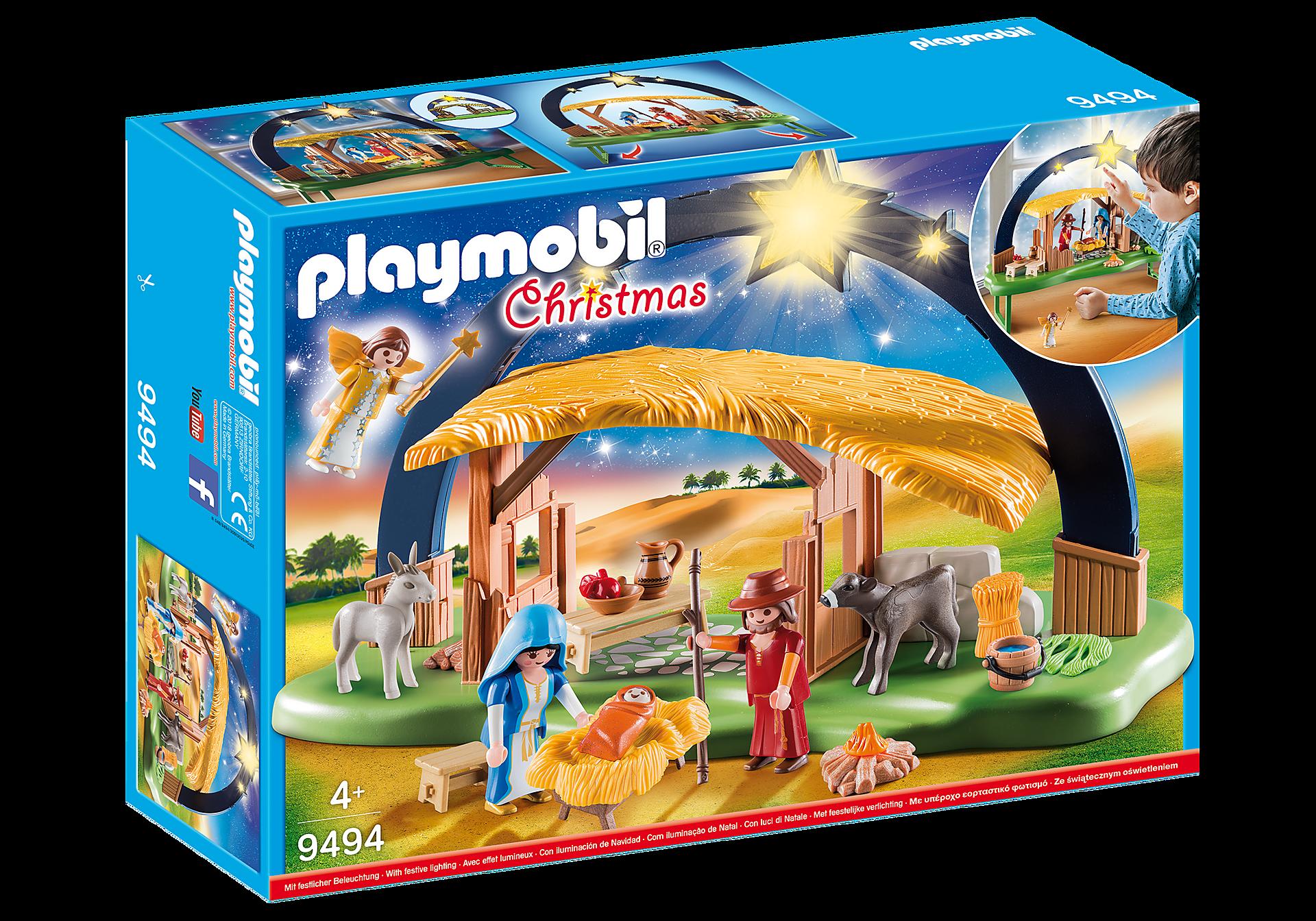 Weihnachtsbeleuchtung Lichterbogen.Lichterbogen Weihnachtskrippe 9494 Playmobil Deutschland