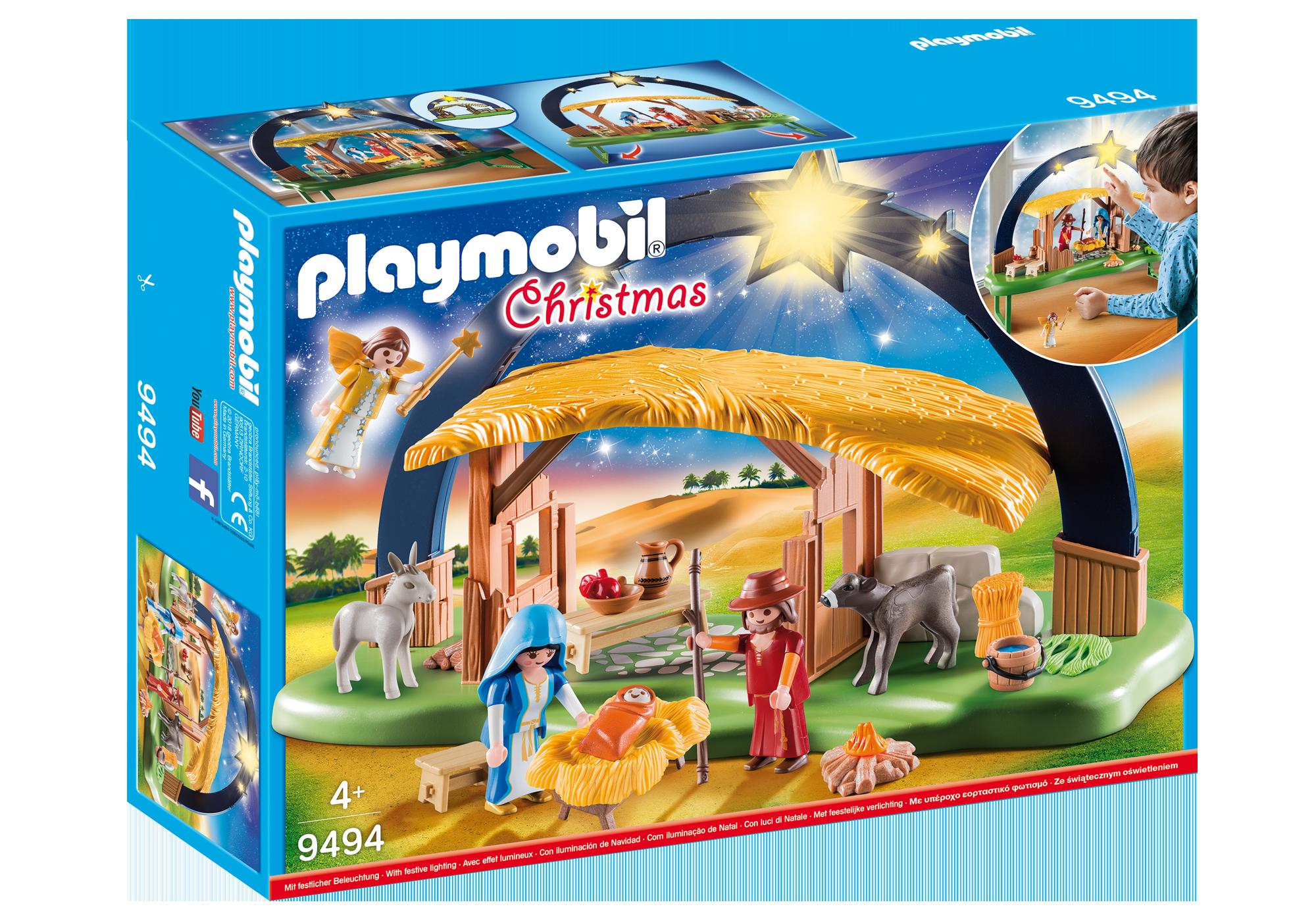 "http://media.playmobil.com/i/playmobil/9494_product_box_front/ljusbåge ""Jesu födelse"""
