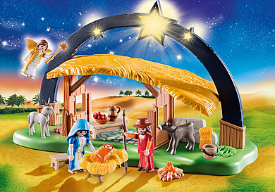 9494_product_detail/Illuminating Nativity Manger