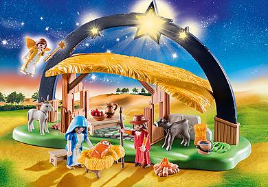 9494_product_detail/Kerststal met heldere ster