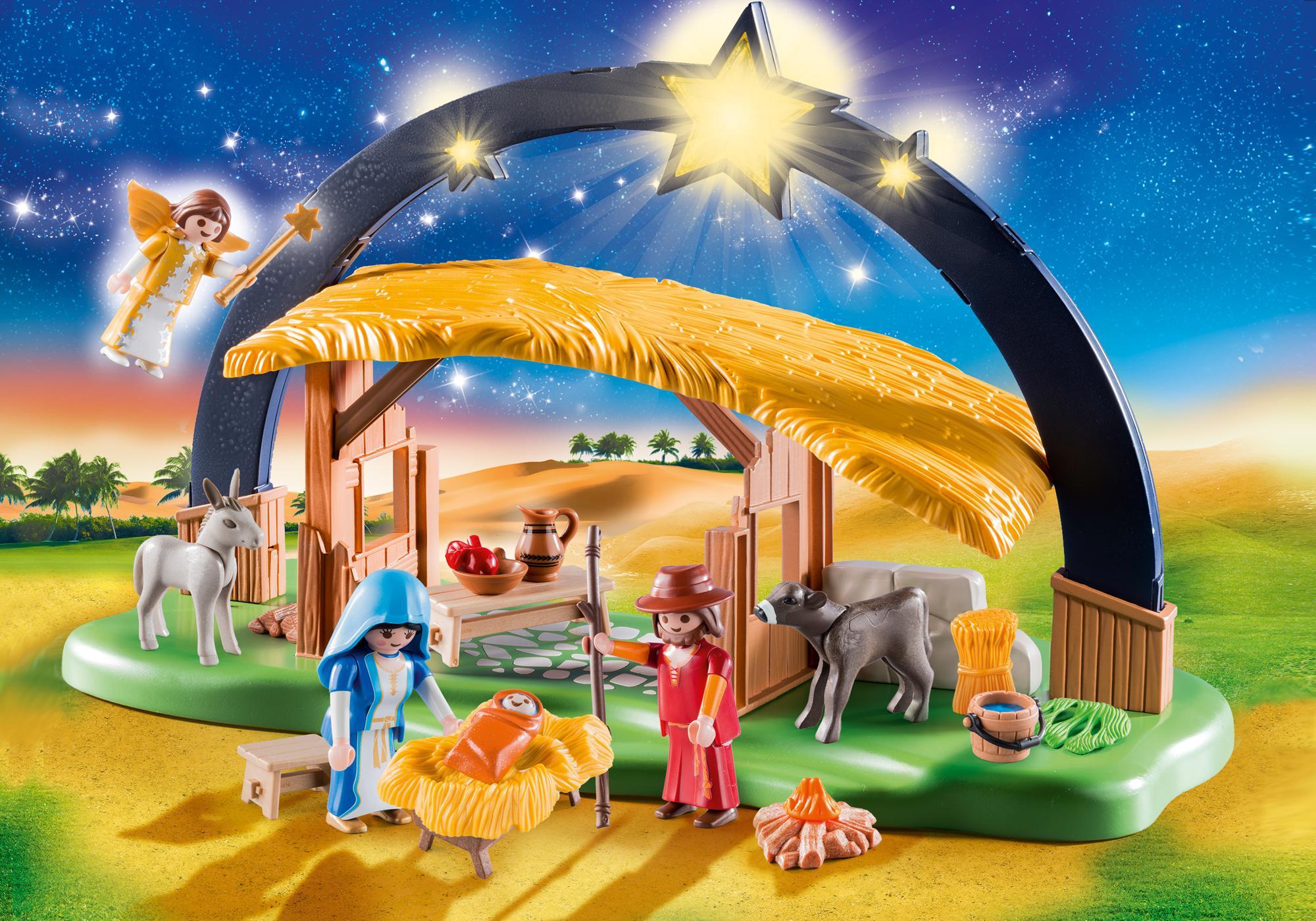 "http://media.playmobil.com/i/playmobil/9494_product_detail/Lichterbogen ""Weihnachtskrippe"""