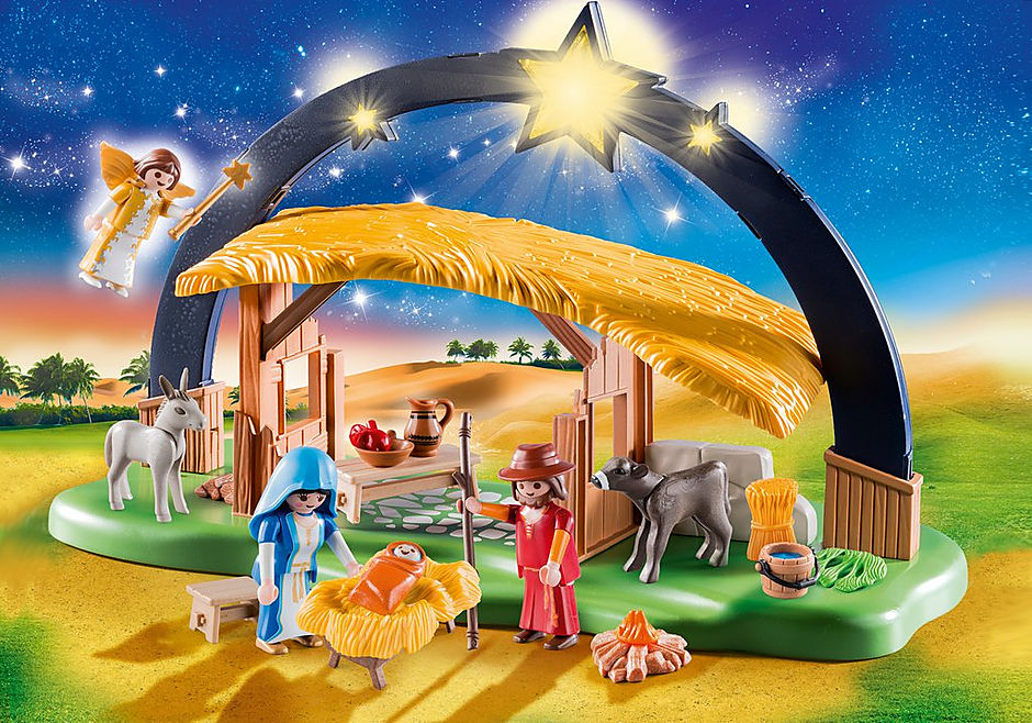 """http://media.playmobil.com/i/playmobil/9494_product_detail/ljusbåge """"Jesu födelse"""""""