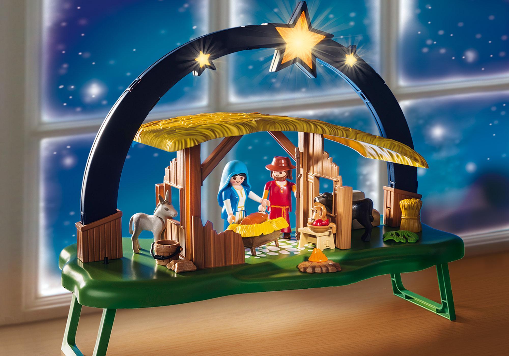 "http://media.playmobil.com/i/playmobil/9494_product_extra1/ljusbåge ""Jesu födelse"""